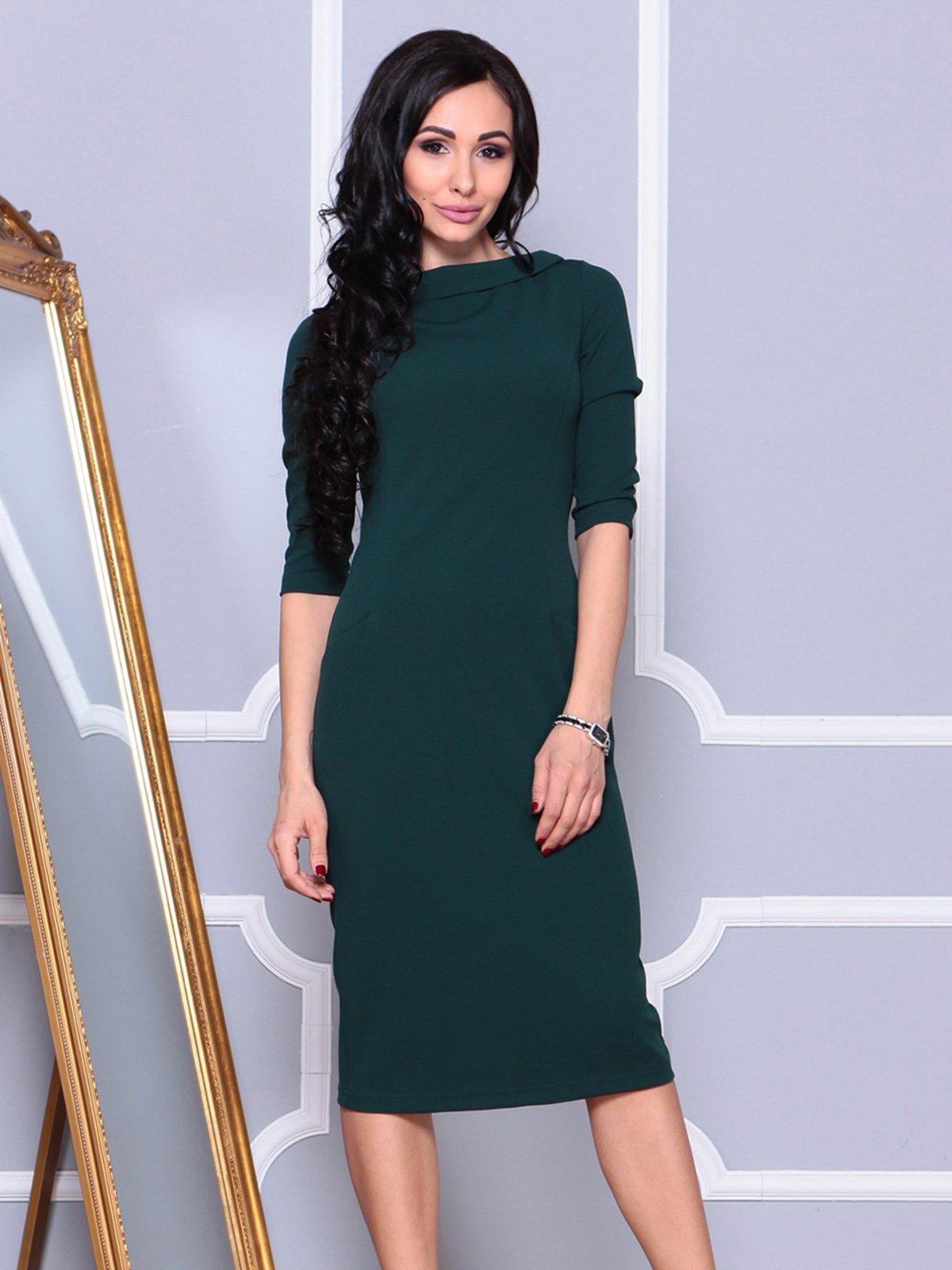 Платье темно-изумрудное | 4021178