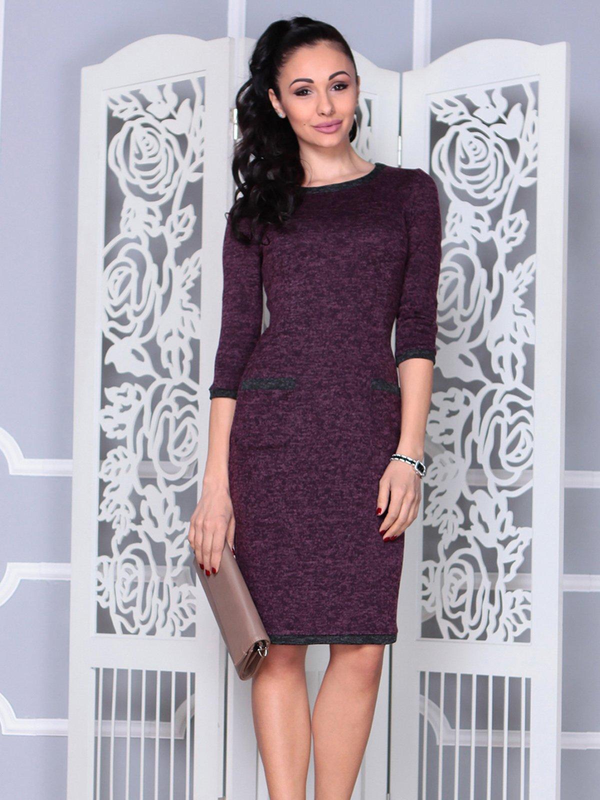 Платье цвета марсала | 4021180