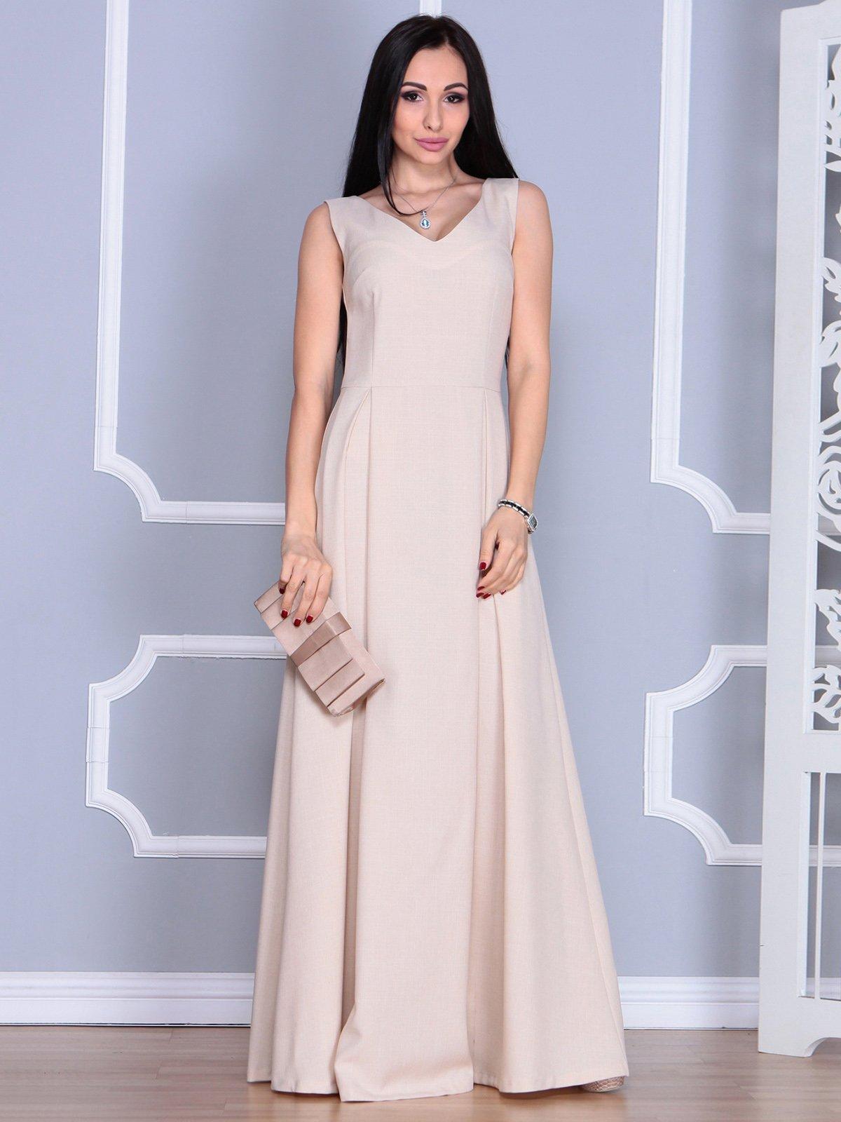 Платье бежевое | 4022491