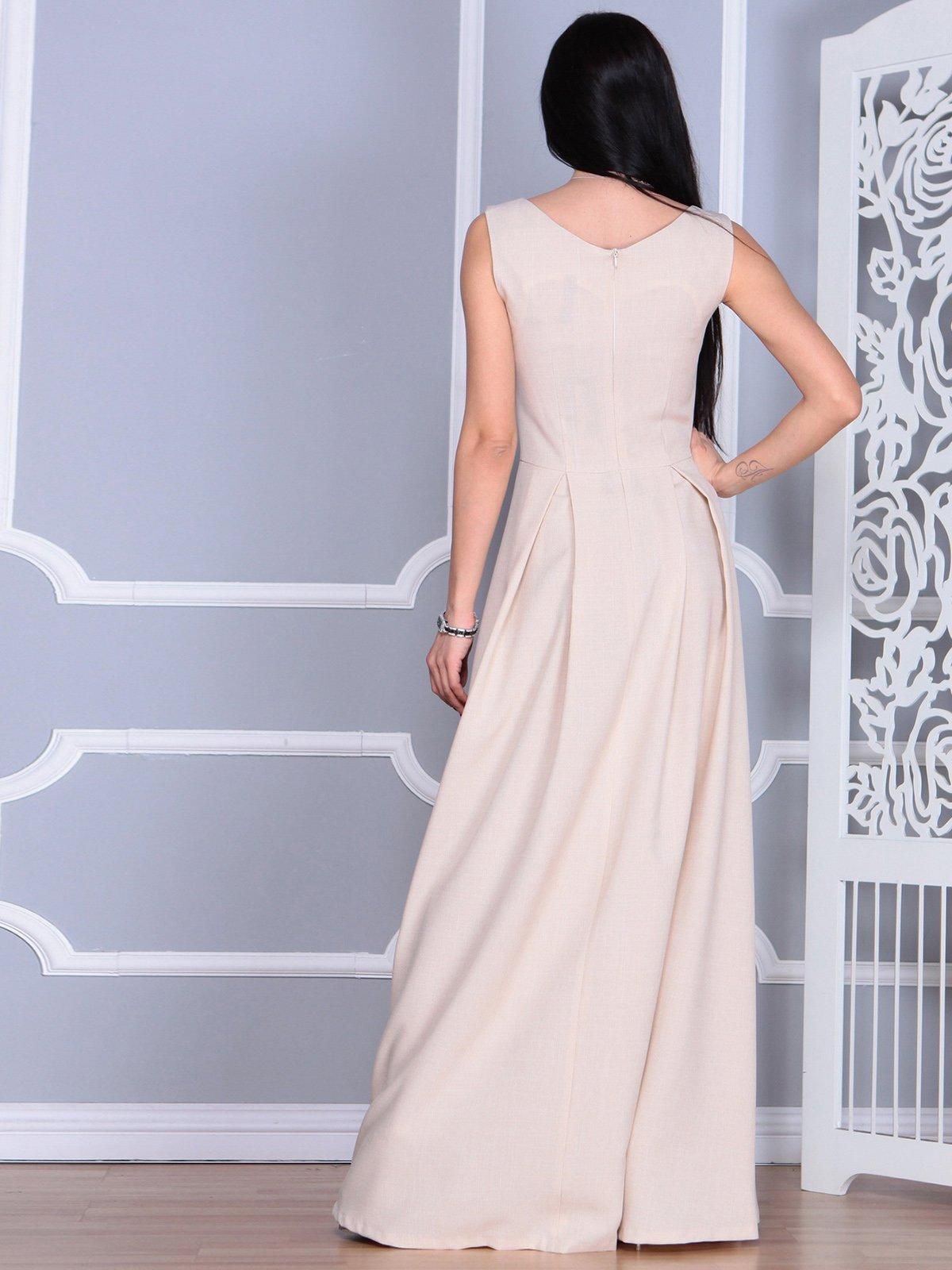 Платье бежевое   4022491   фото 2