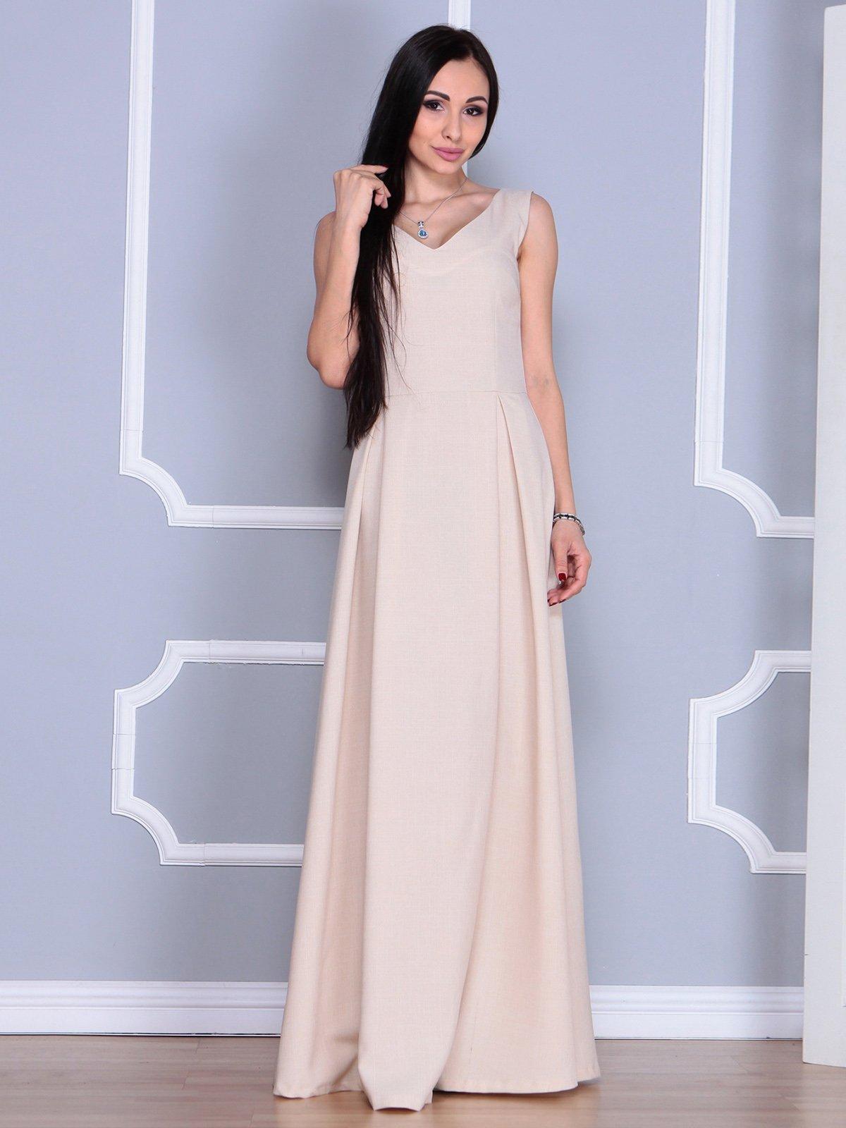 Платье бежевое   4022491   фото 4