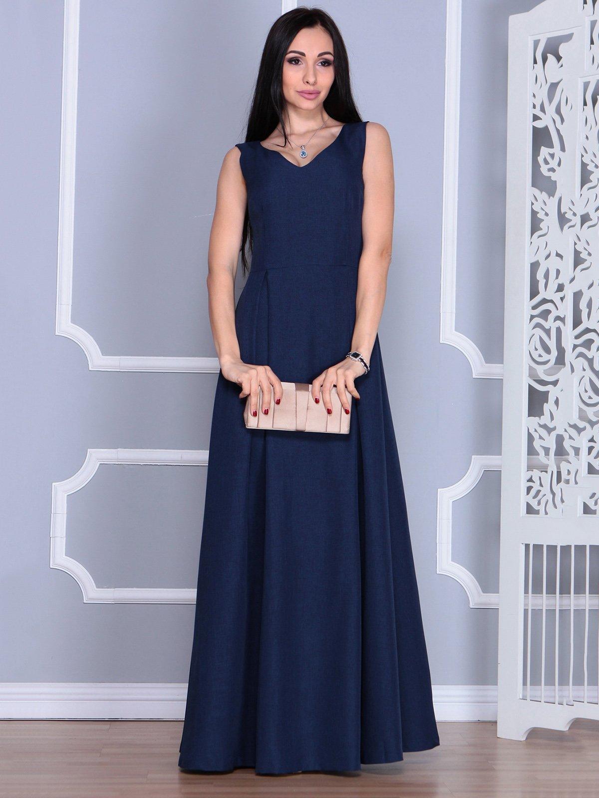 Платье темно-синее | 4022493