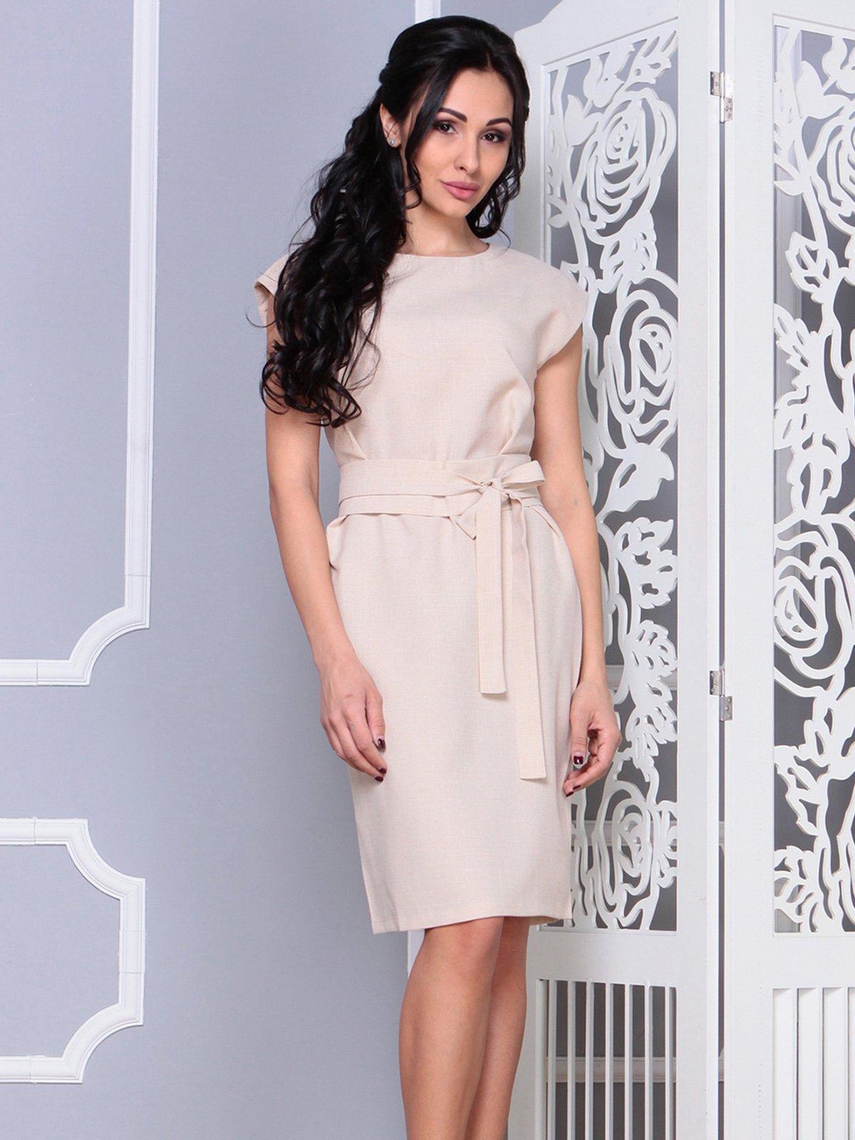 Платье бежевое | 4028051 | фото 4