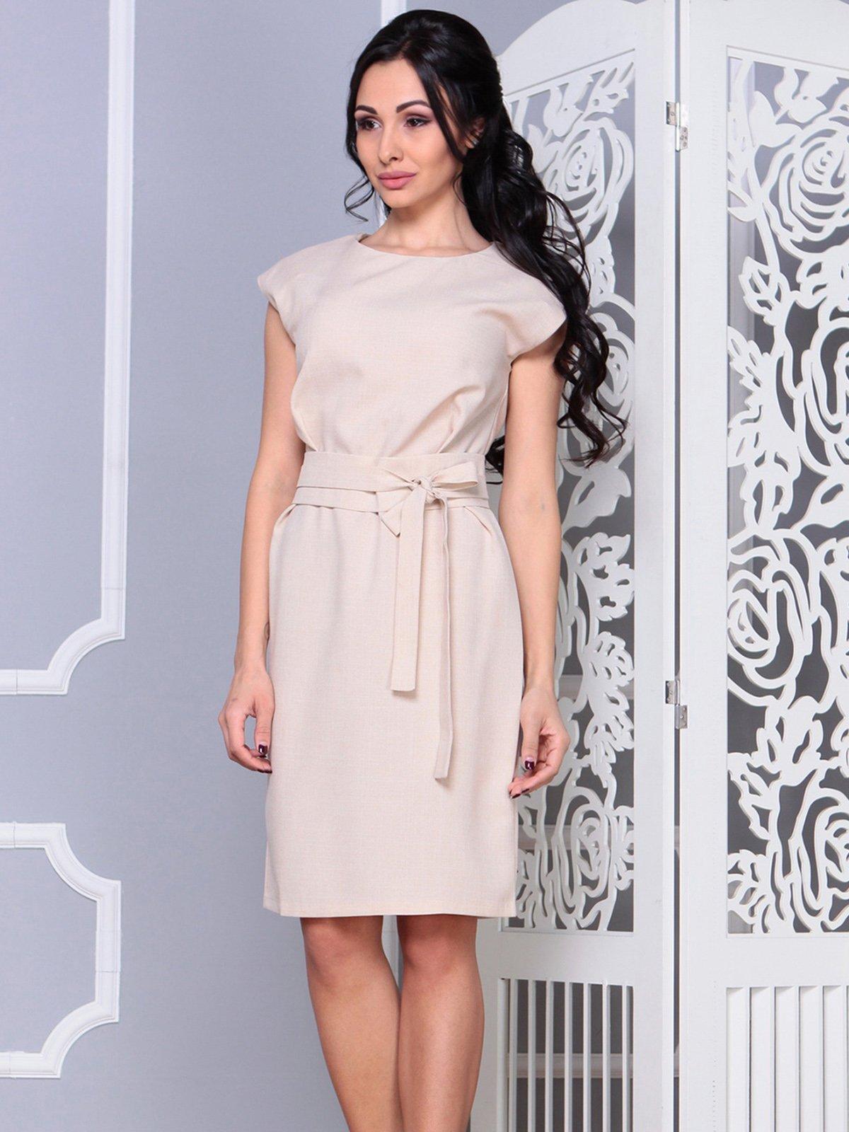 Платье бежевое | 4028051 | фото 5