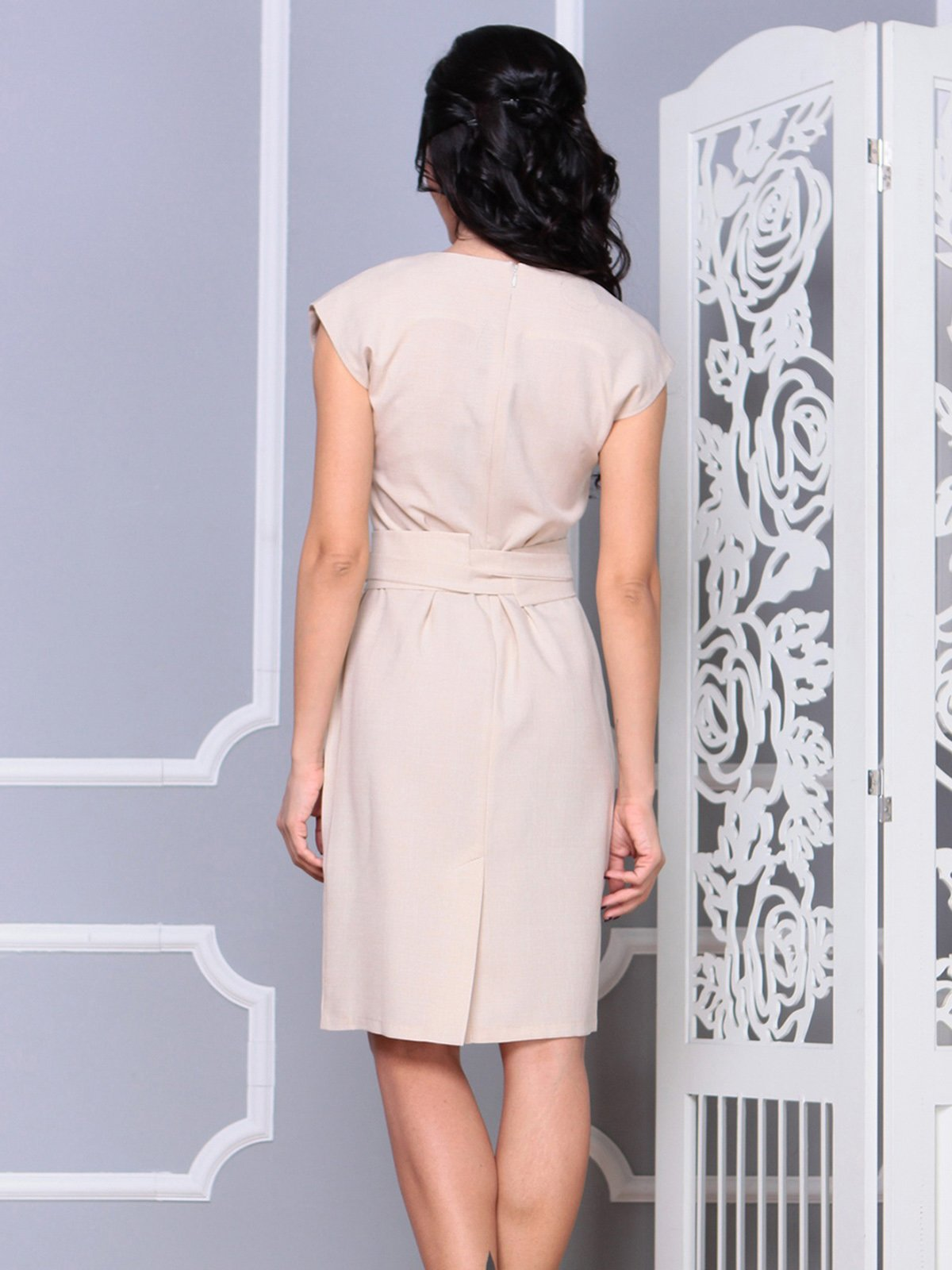 Платье бежевое | 4028051 | фото 2