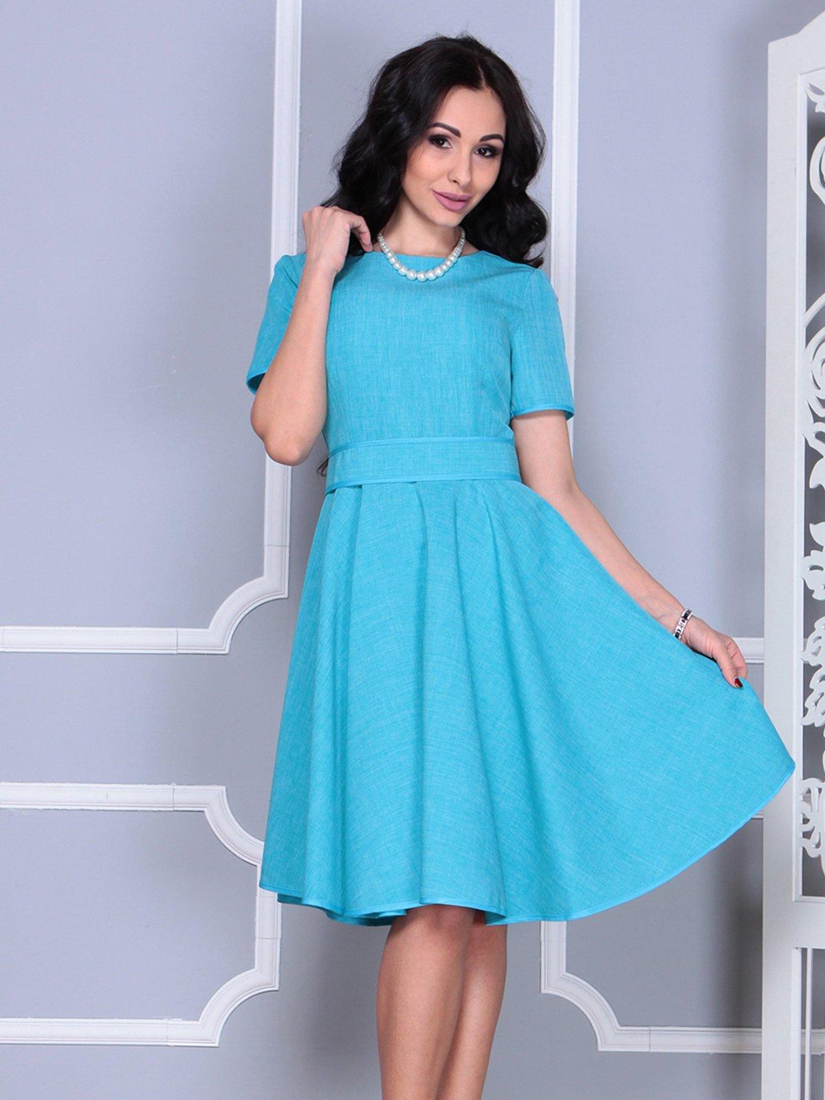 Платье ментолового цвета | 4028057 | фото 5