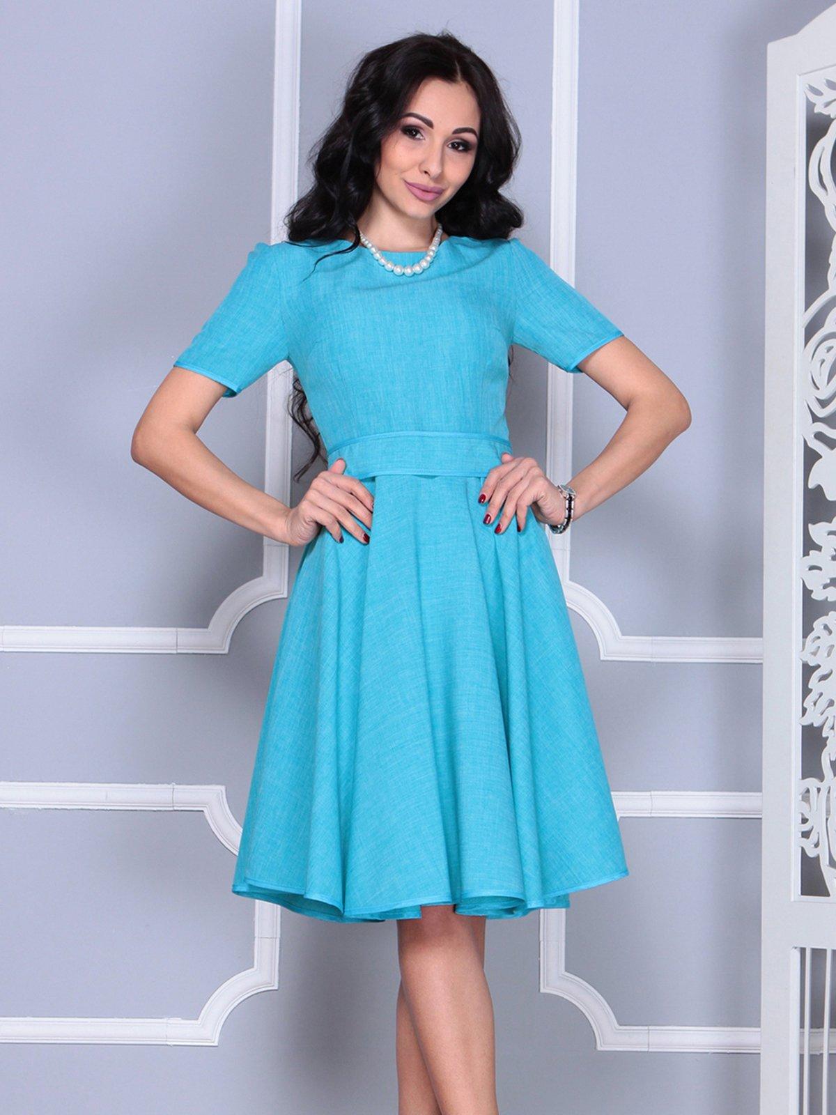 Платье ментолового цвета | 4028057 | фото 6