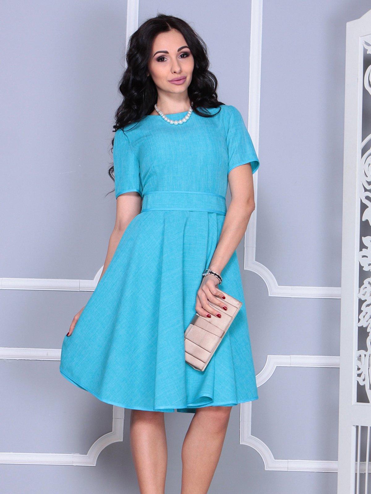 Платье ментолового цвета | 4028057