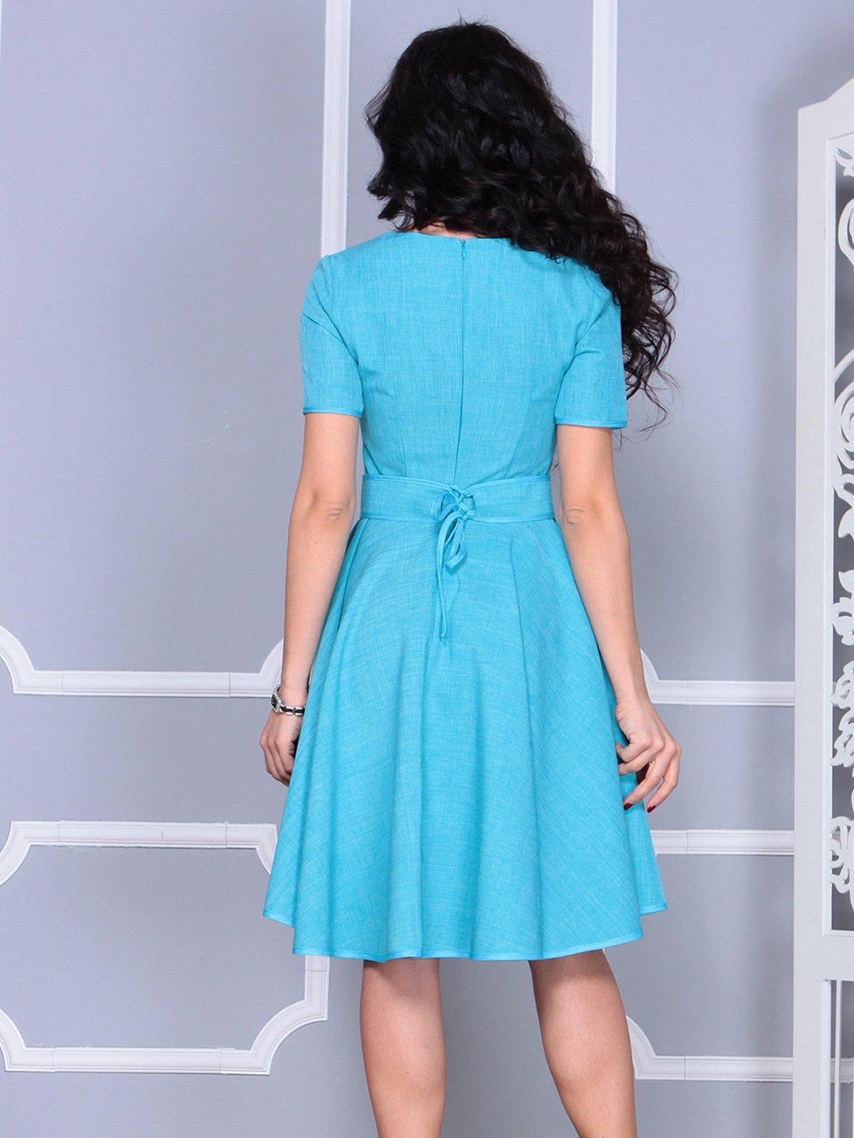 Платье ментолового цвета | 4028057 | фото 2