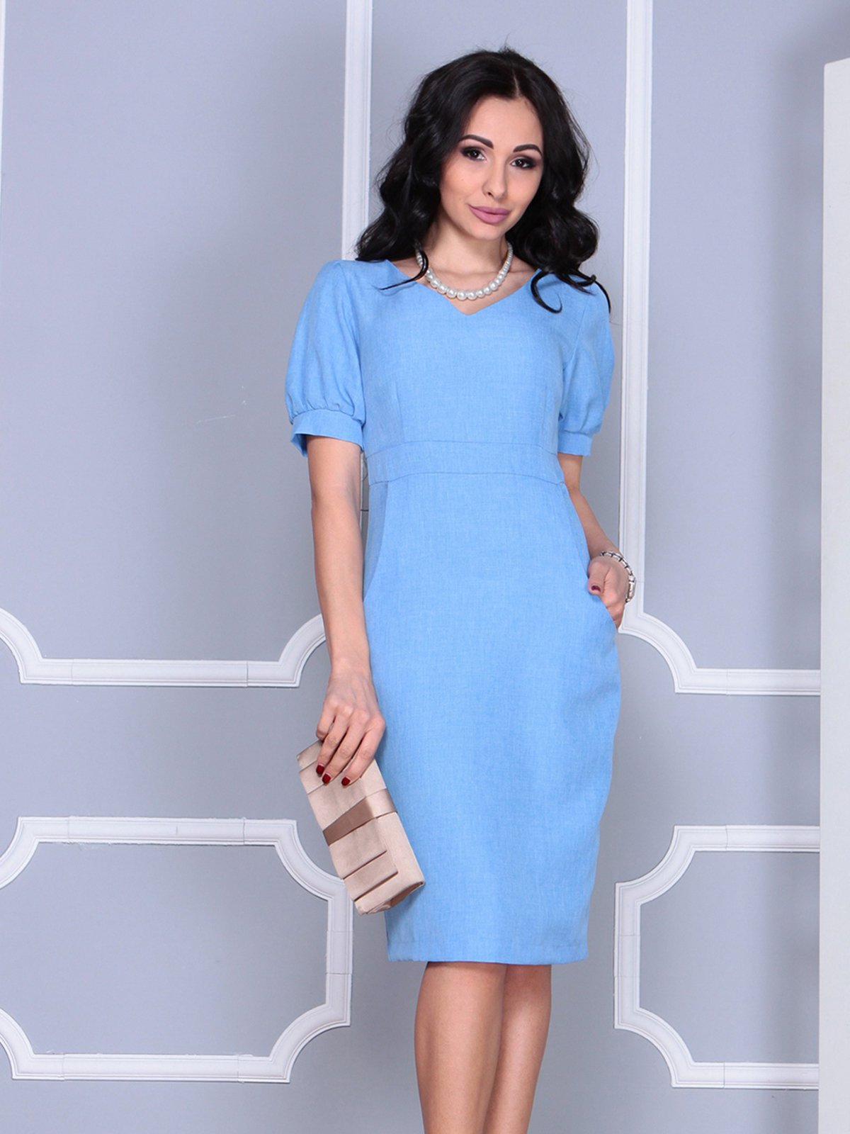 Платье голубое | 4028065 | фото 3