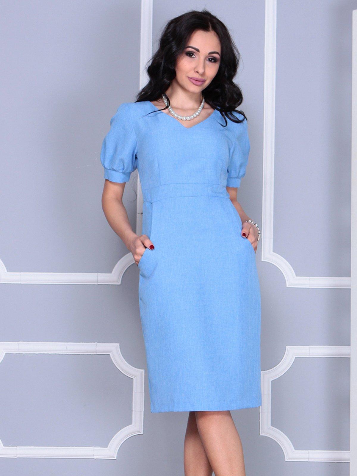 Платье голубое | 4028065 | фото 4