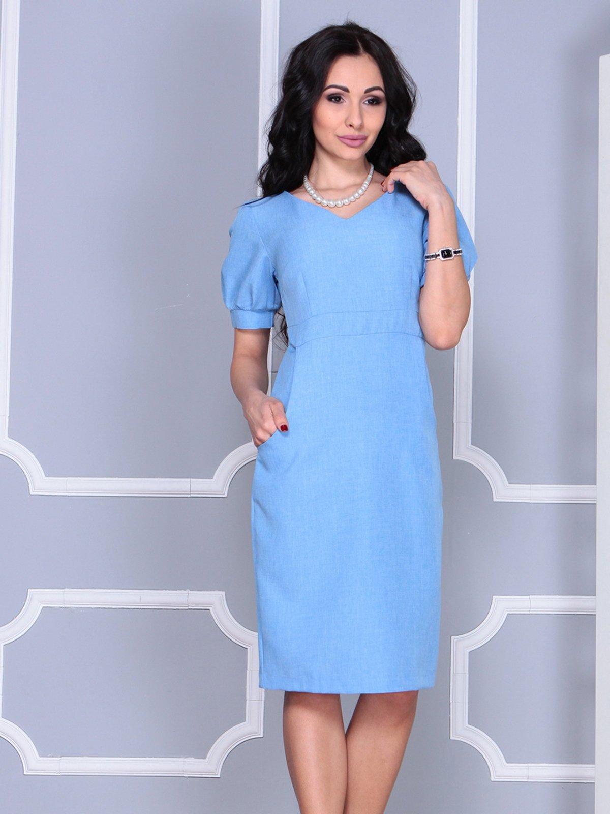 Платье голубое | 4028065 | фото 5