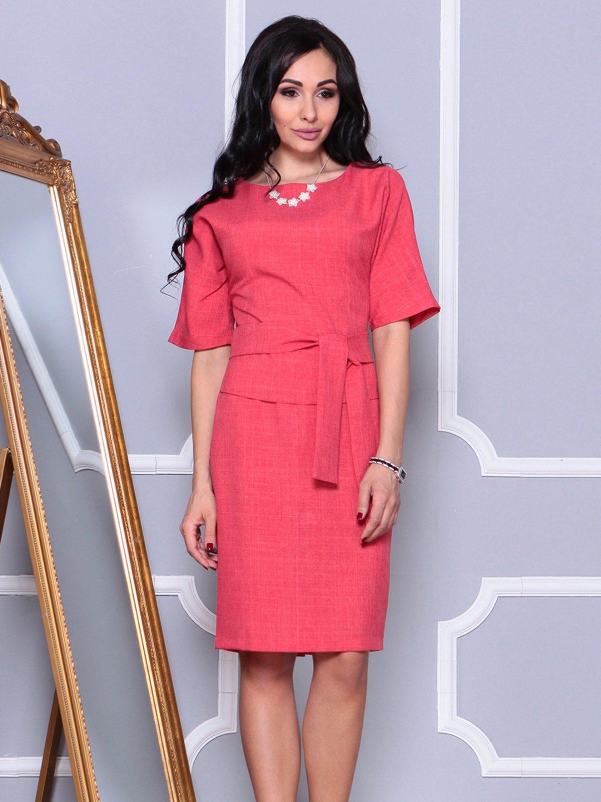 Платье цвета красный коралл   4028084