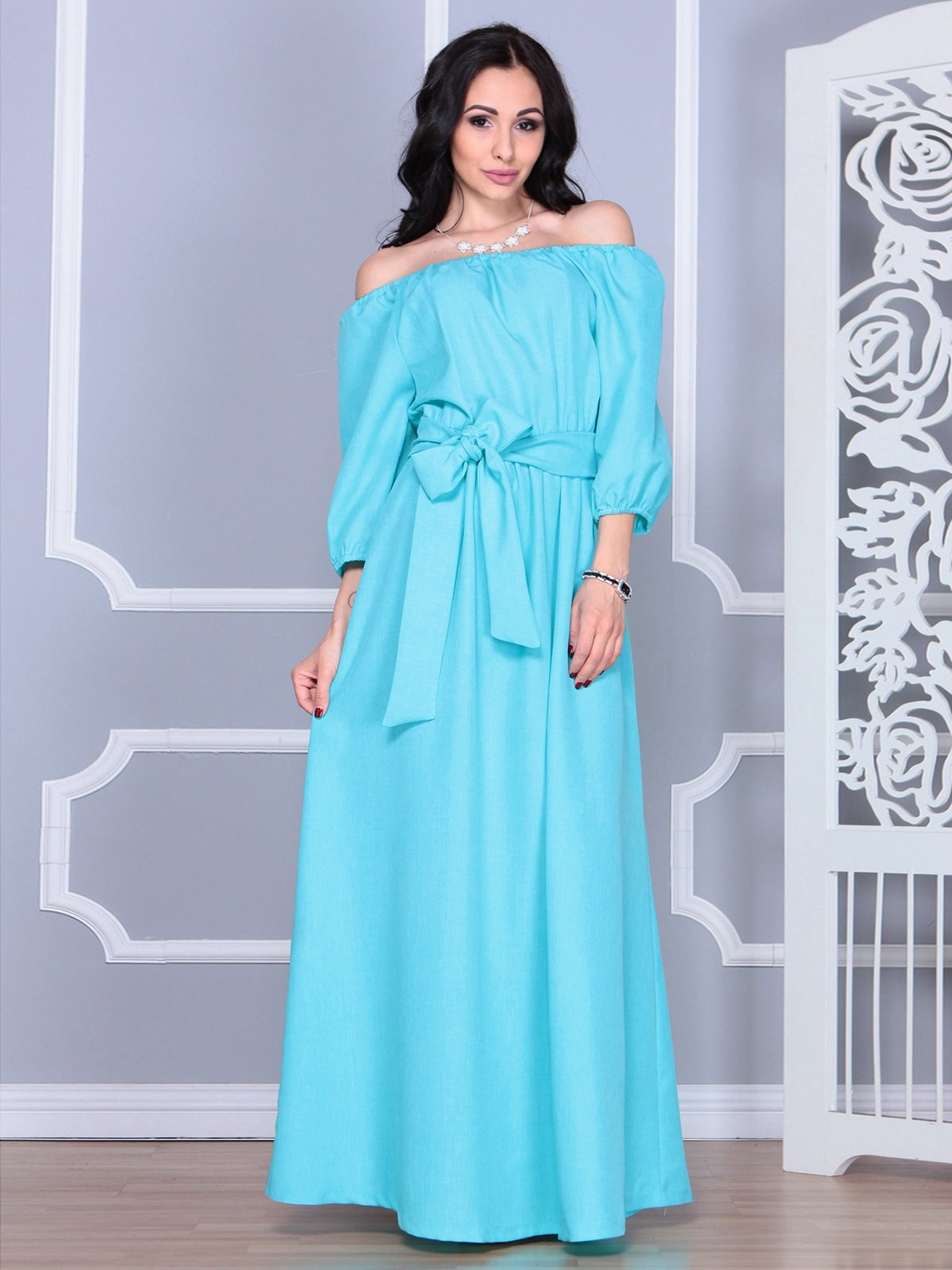 Сукня світло-бірюзова | 4028090