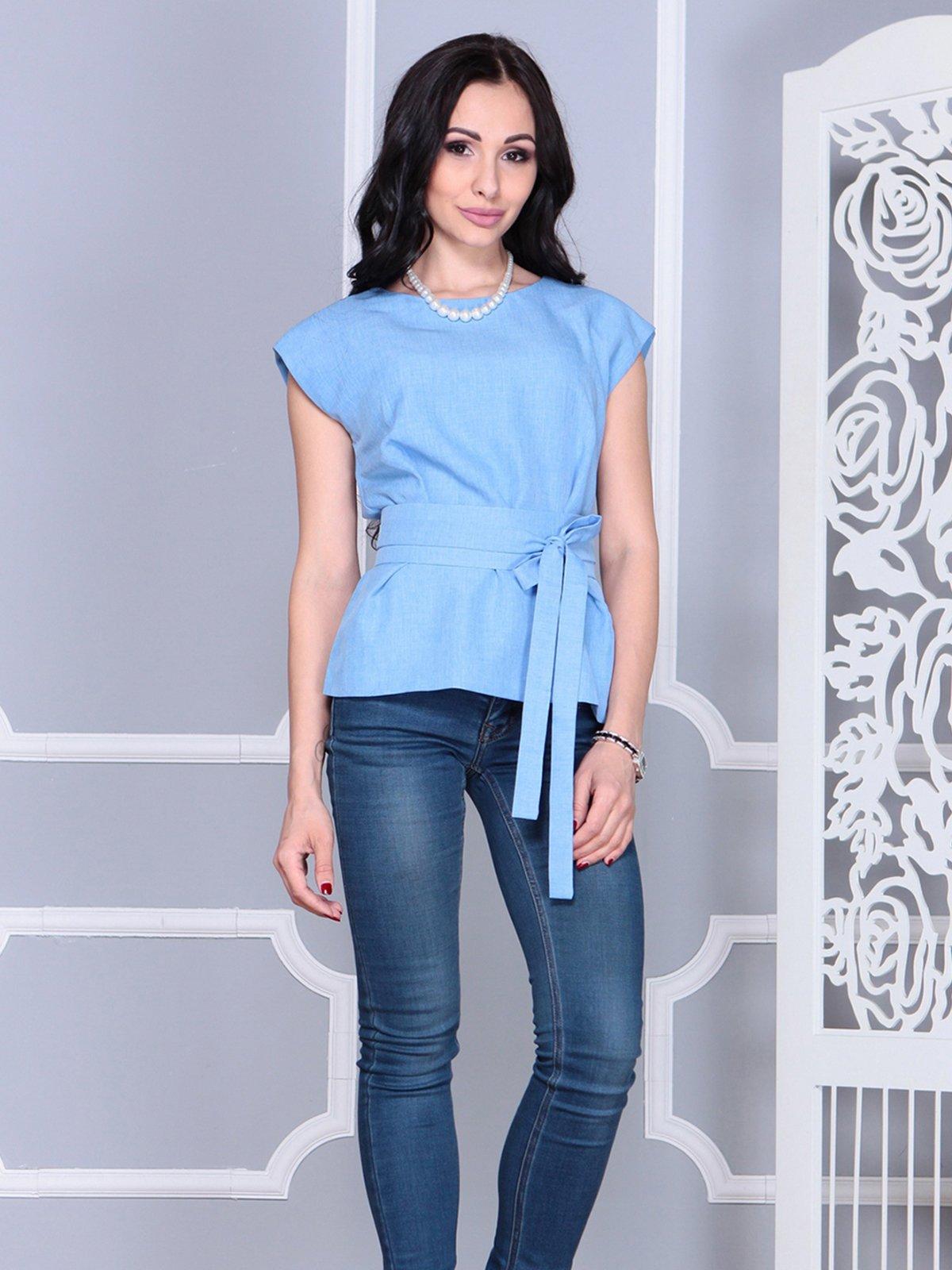 Блуза голубая | 4028091
