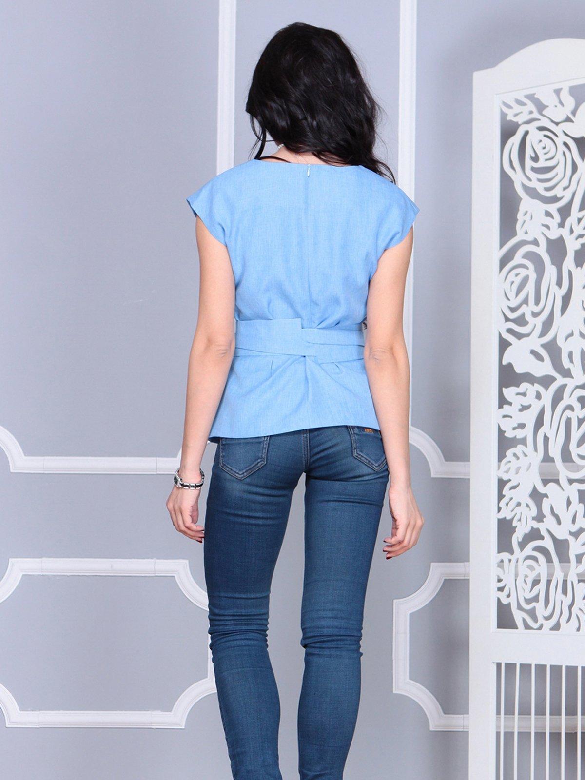 Блуза голубая | 4028091 | фото 2