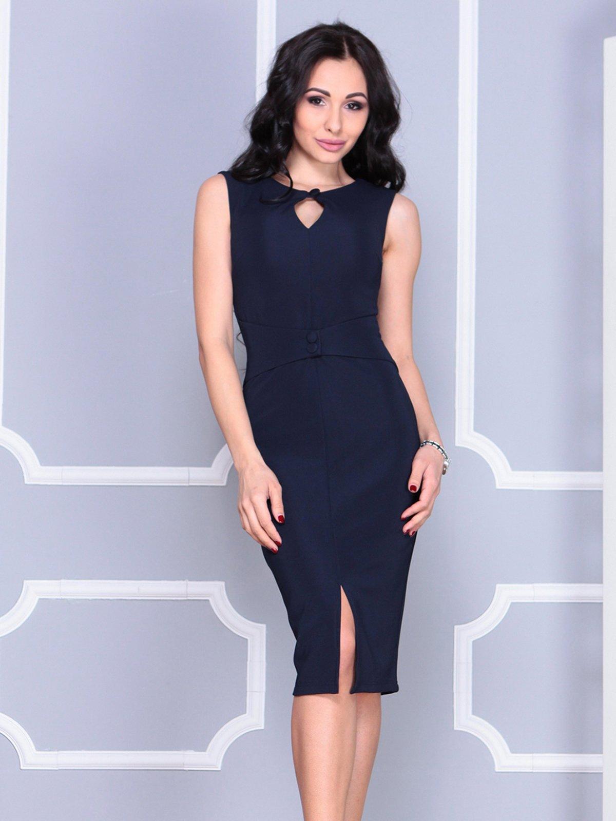 Платье темно-синее   4028099   фото 4
