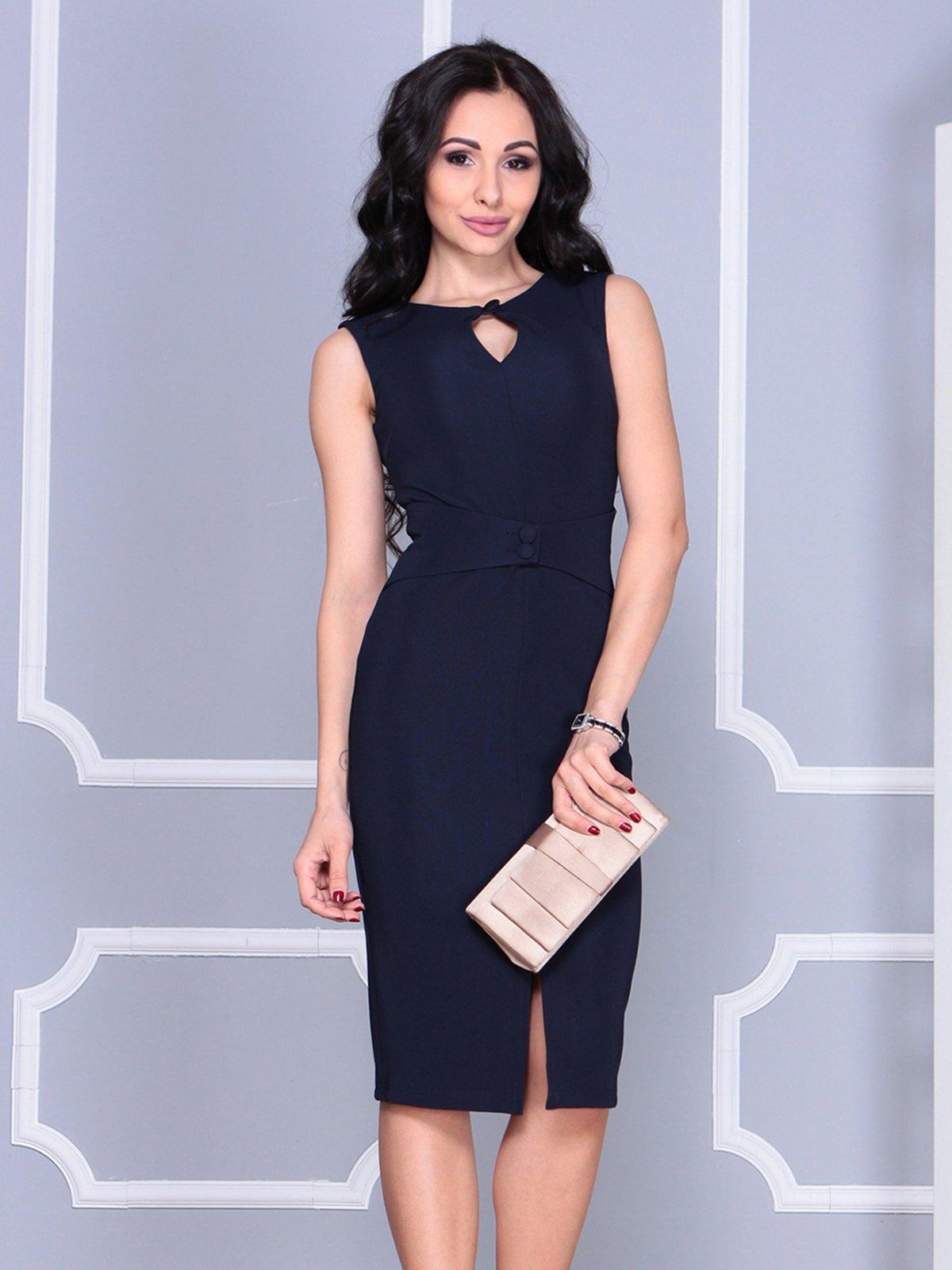 Платье темно-синее | 4028099