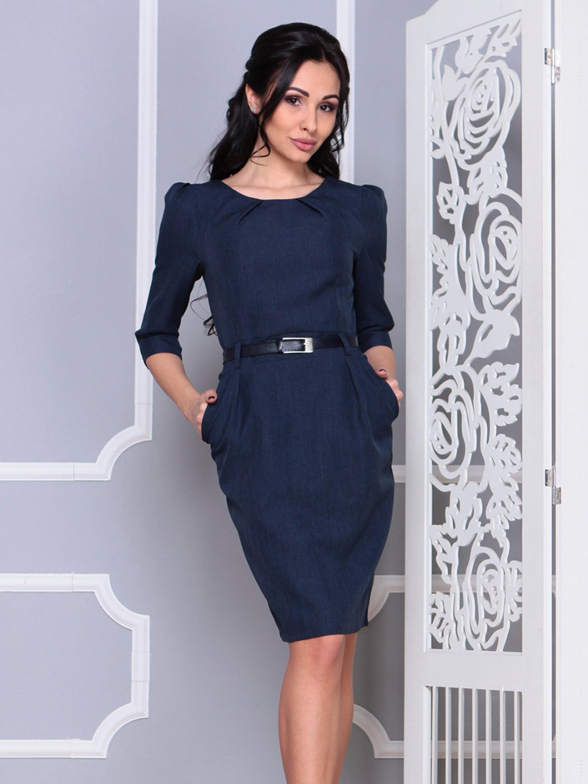 Платье темно-синее | 4028101 | фото 3