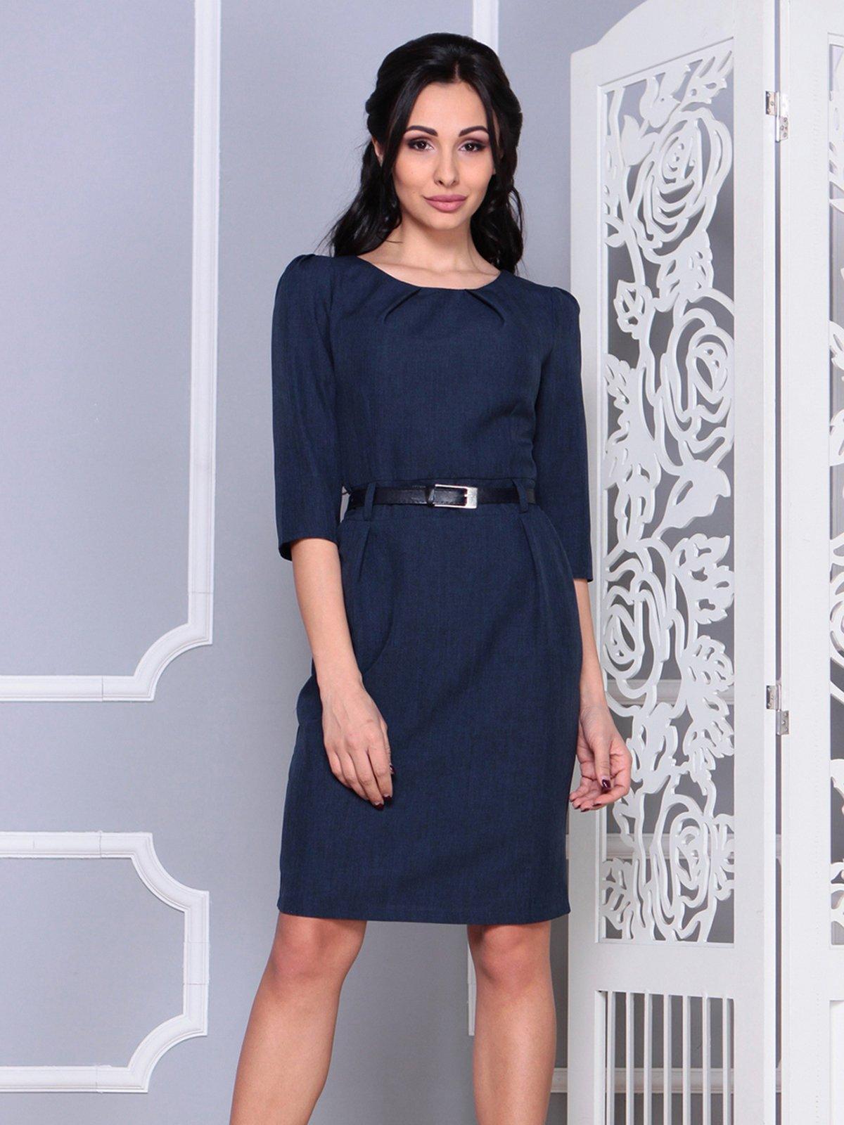 Платье темно-синее | 4028101 | фото 4