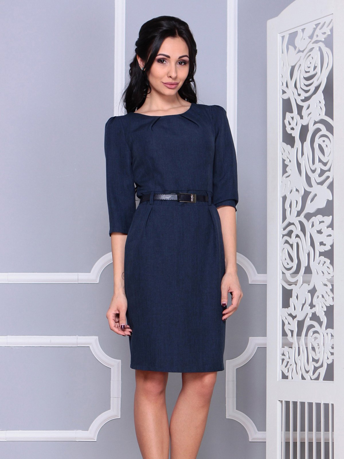 Платье темно-синее | 4028101 | фото 5