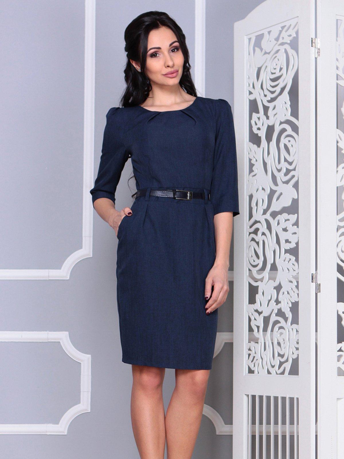 Платье темно-синее | 4028101