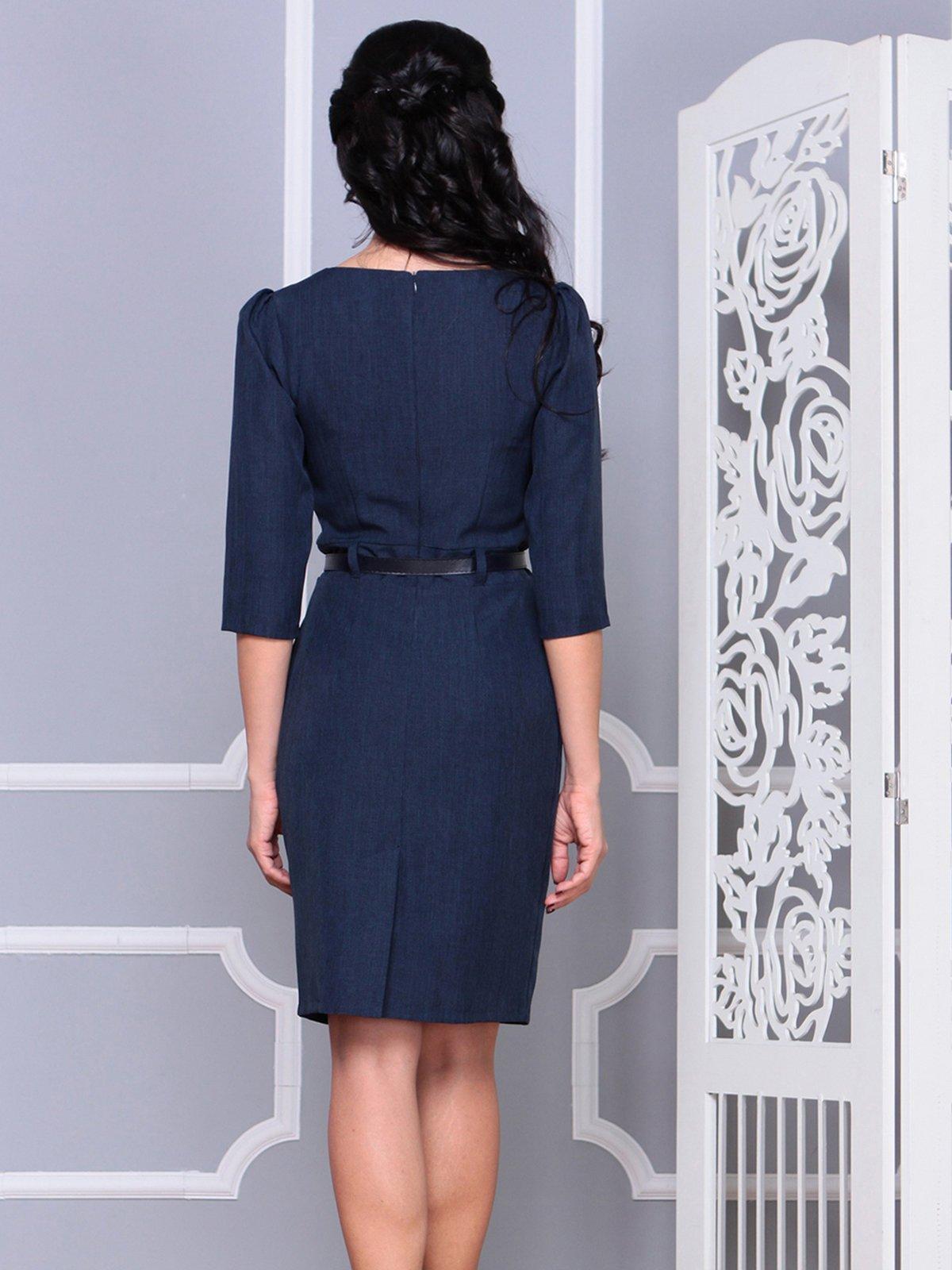 Платье темно-синее | 4028101 | фото 2