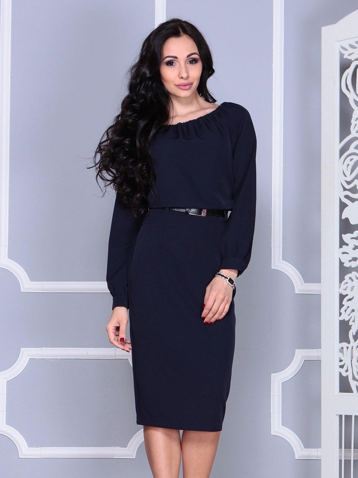 Платье темно-синее   4028104   фото 3