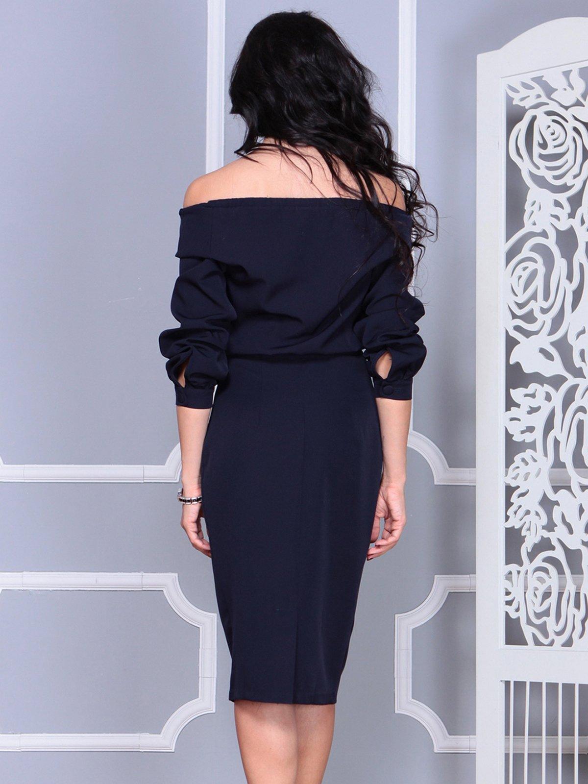 Платье темно-синее   4028104   фото 5