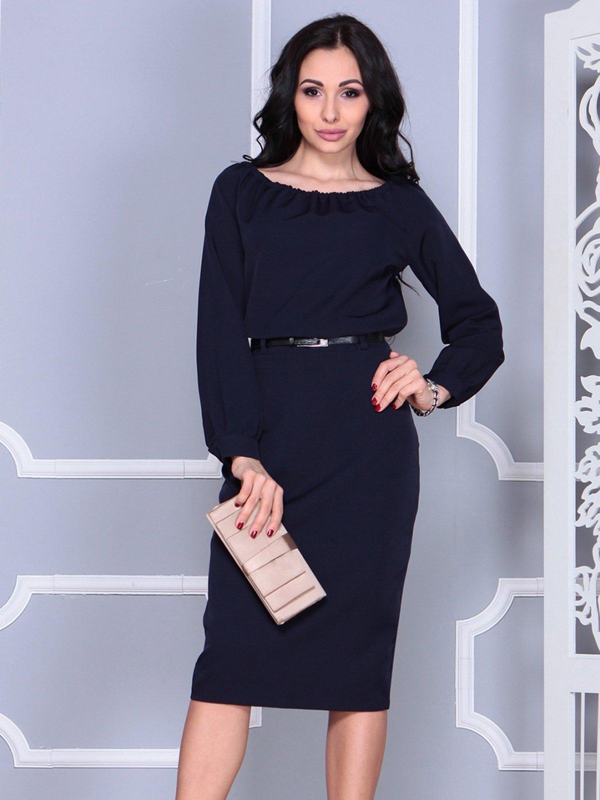 Платье темно-синее   4028104
