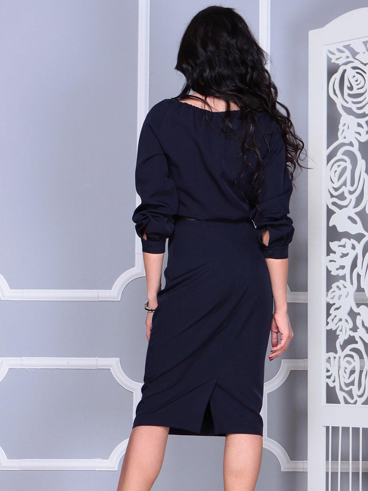 Платье темно-синее   4028104   фото 2