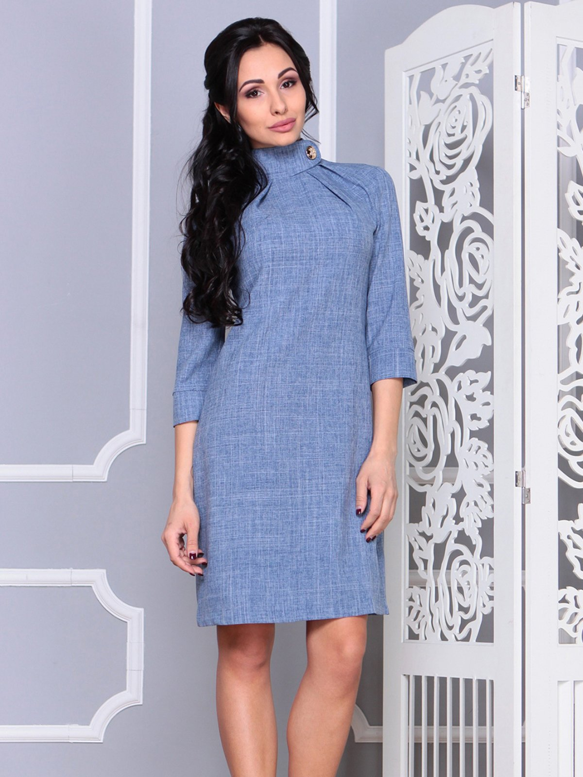 Платье цвета джинса | 4028107 | фото 3