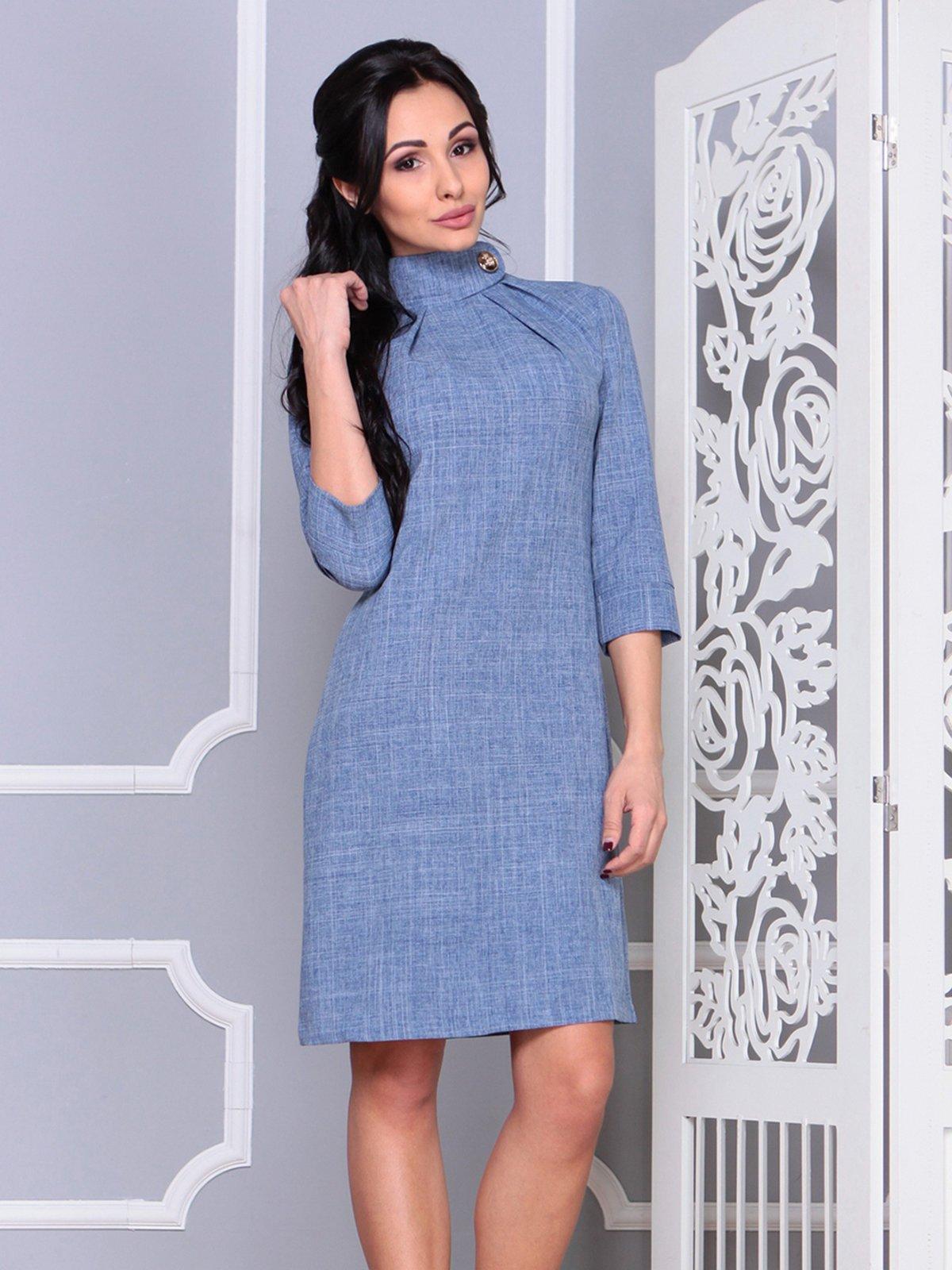 Платье цвета джинса | 4028107 | фото 4