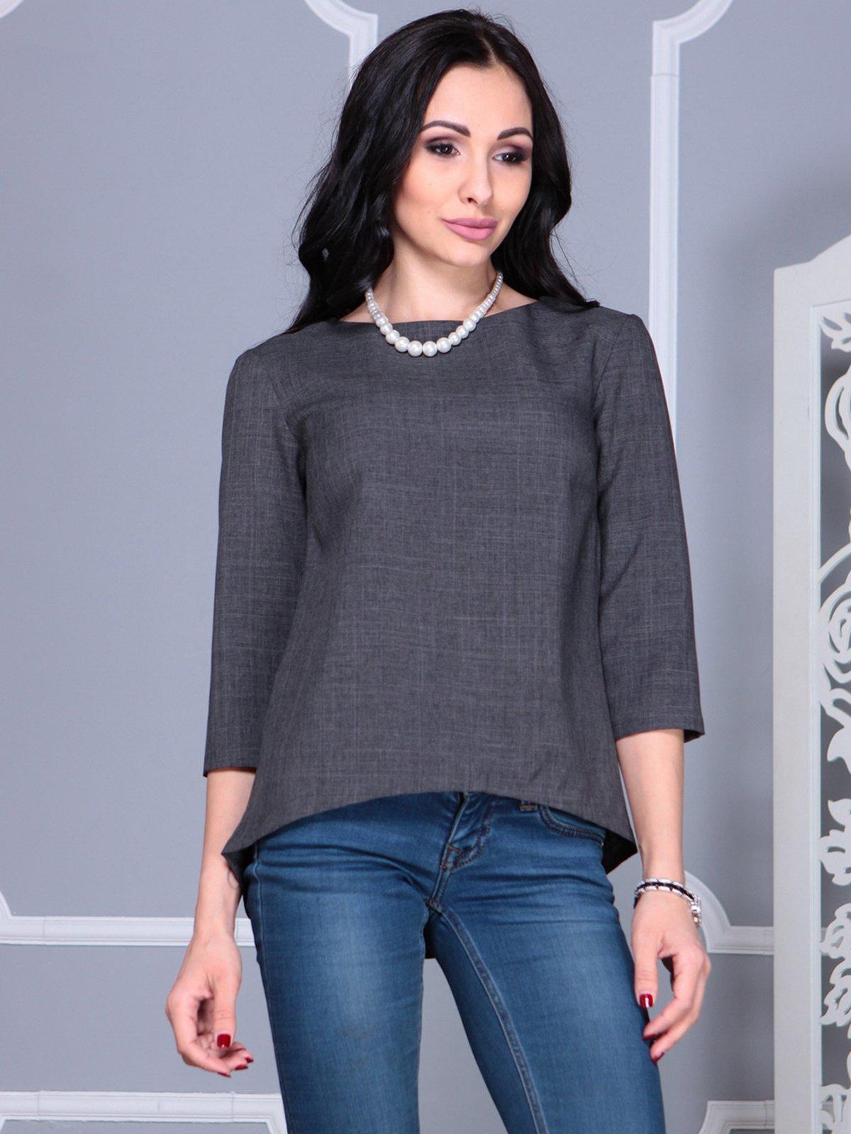 Блуза графитового цвета   4028108   фото 3