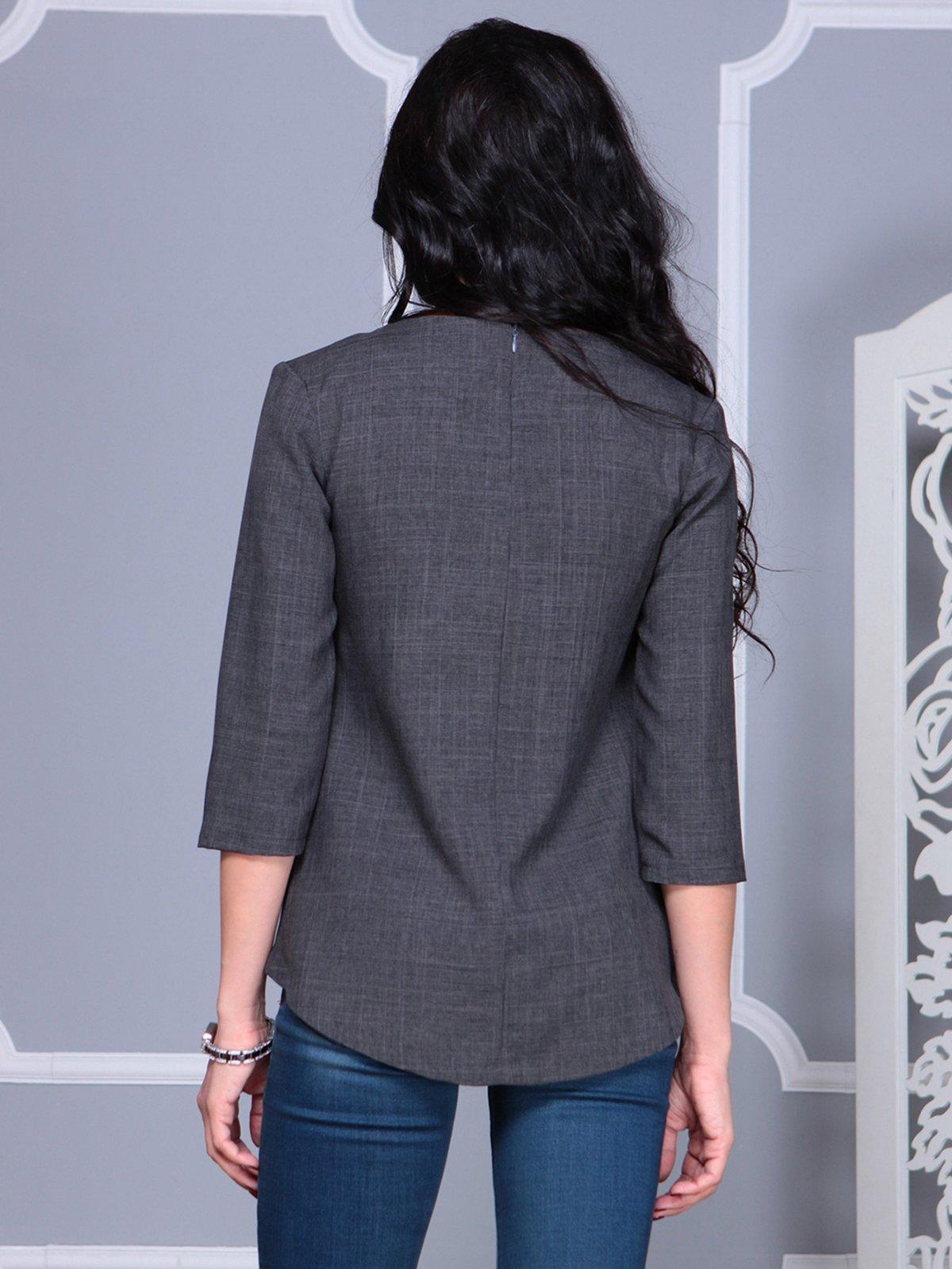 Блуза графитового цвета   4028108   фото 2