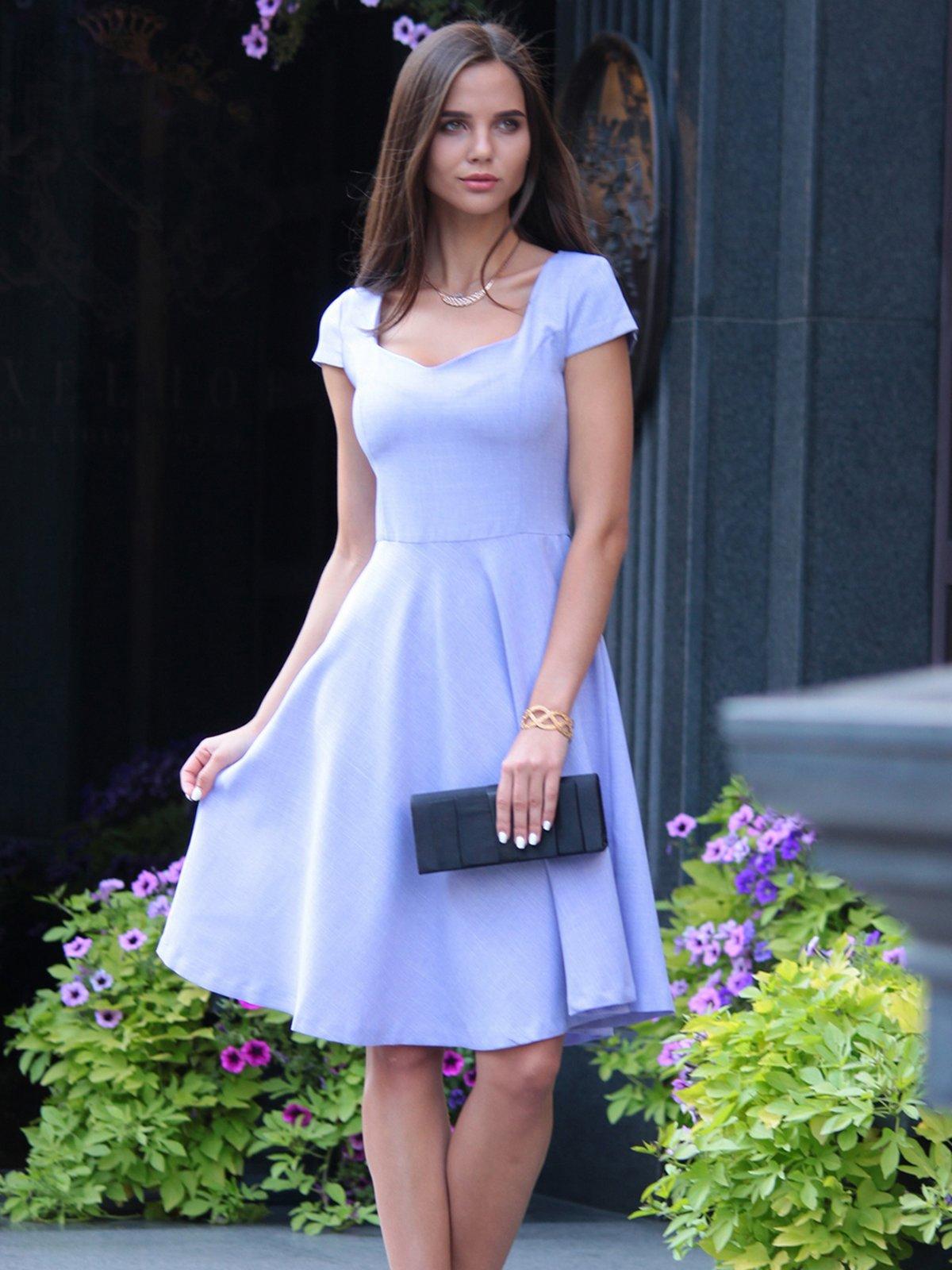 Платье светло-фиалковое | 4028110 | фото 3