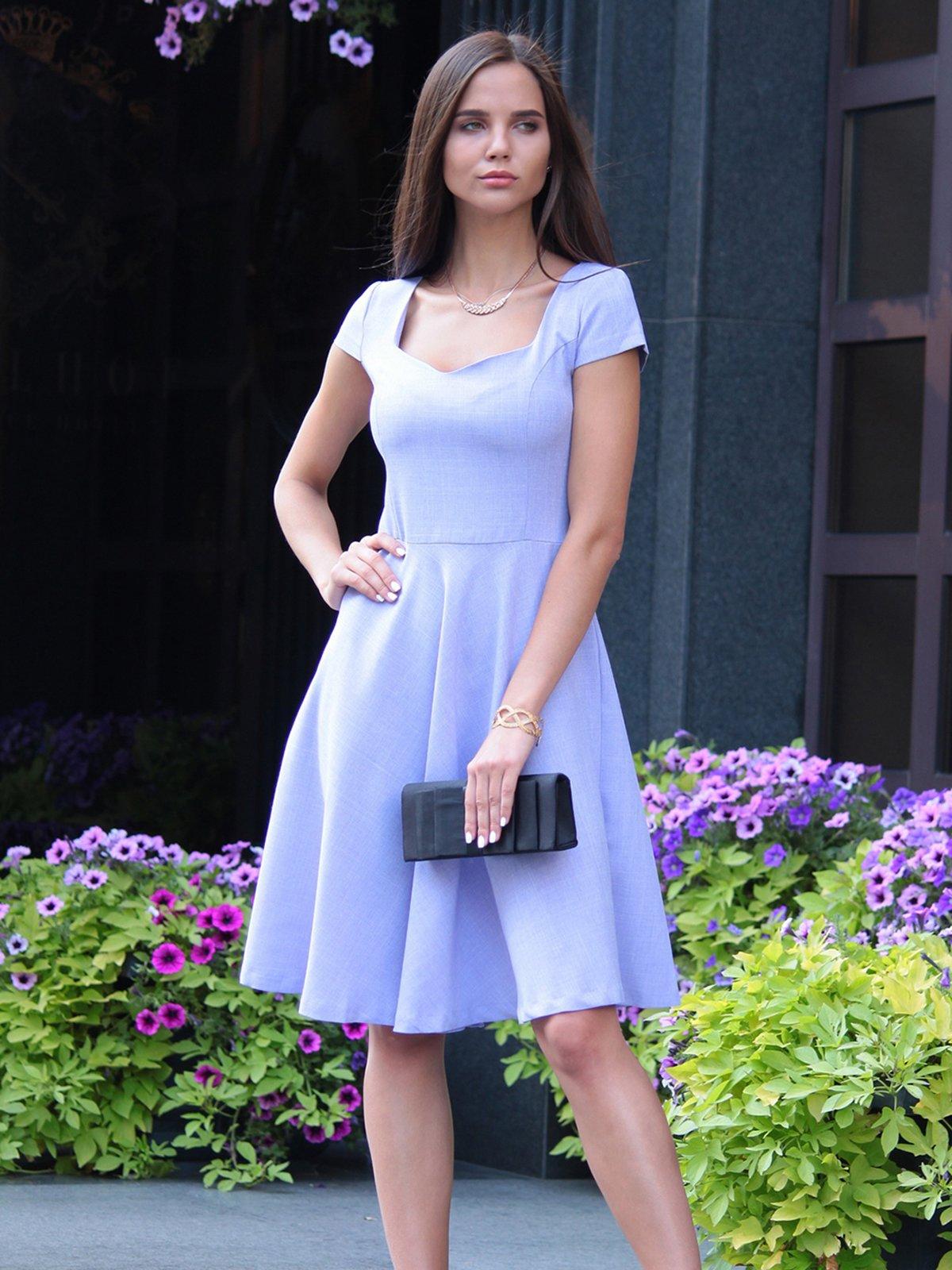 Платье светло-фиалковое | 4028110 | фото 4