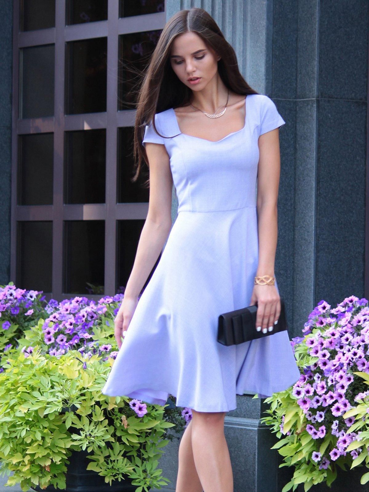 Платье светло-фиалковое | 4028110 | фото 5