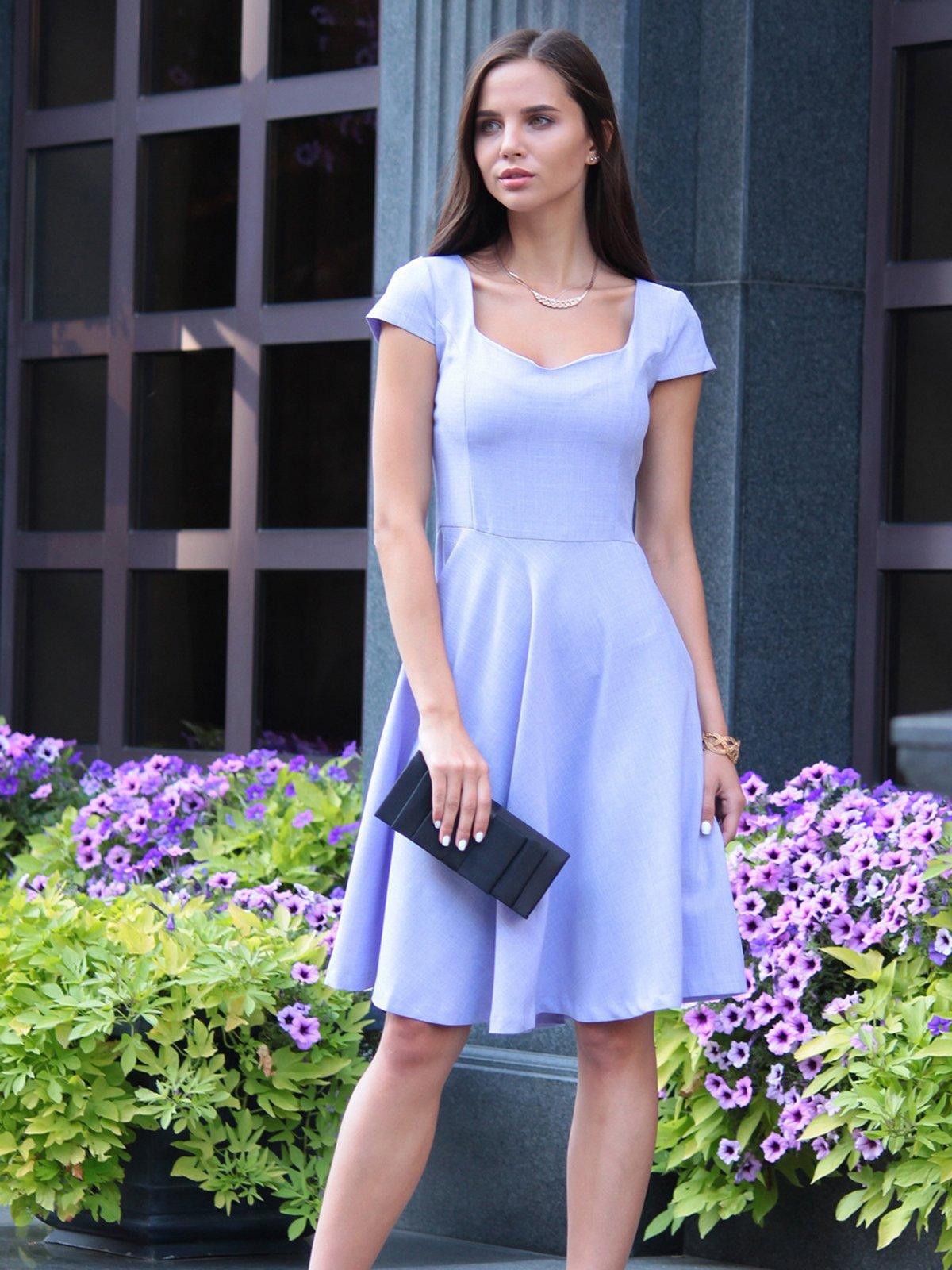 Платье светло-фиалковое | 4028110 | фото 2