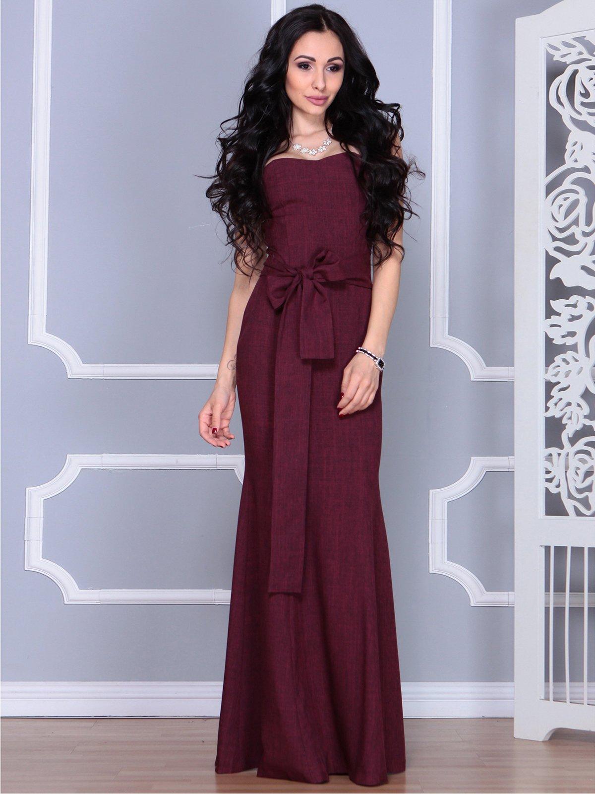 Платье сливовое | 4028112 | фото 3