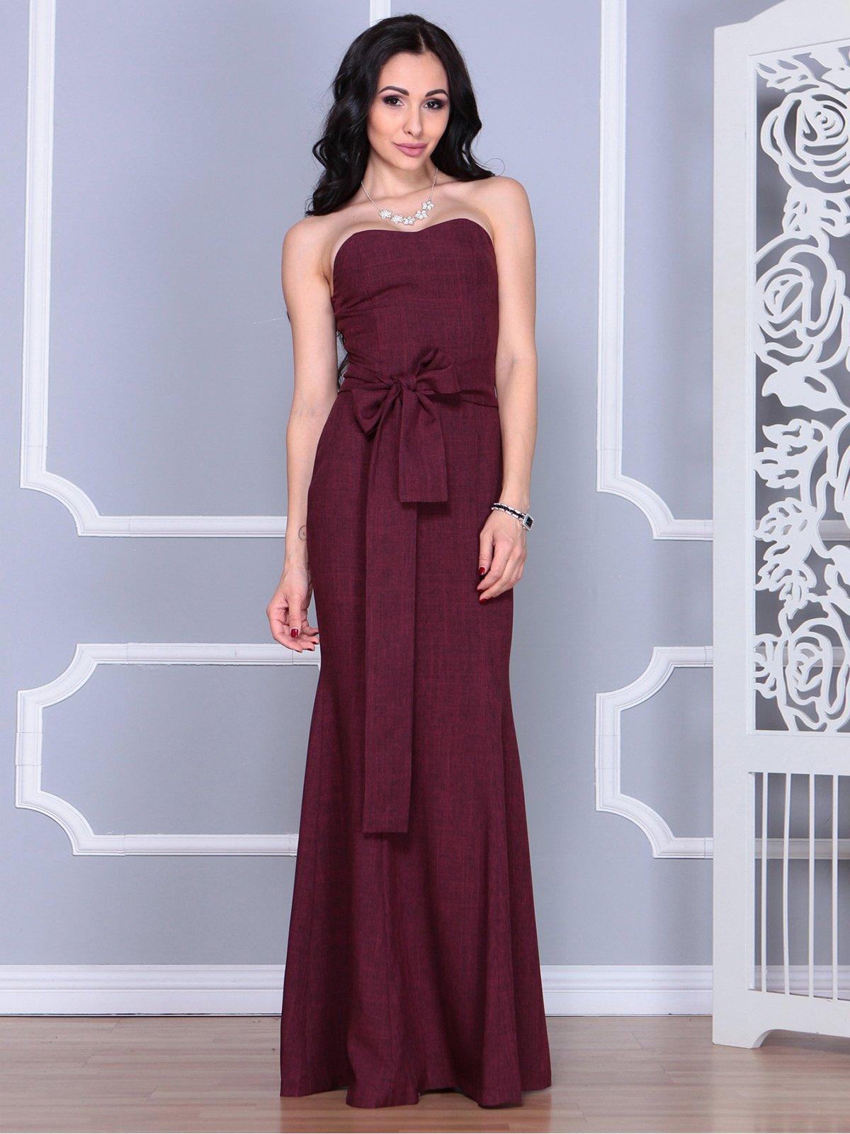Платье сливовое | 4028112 | фото 4