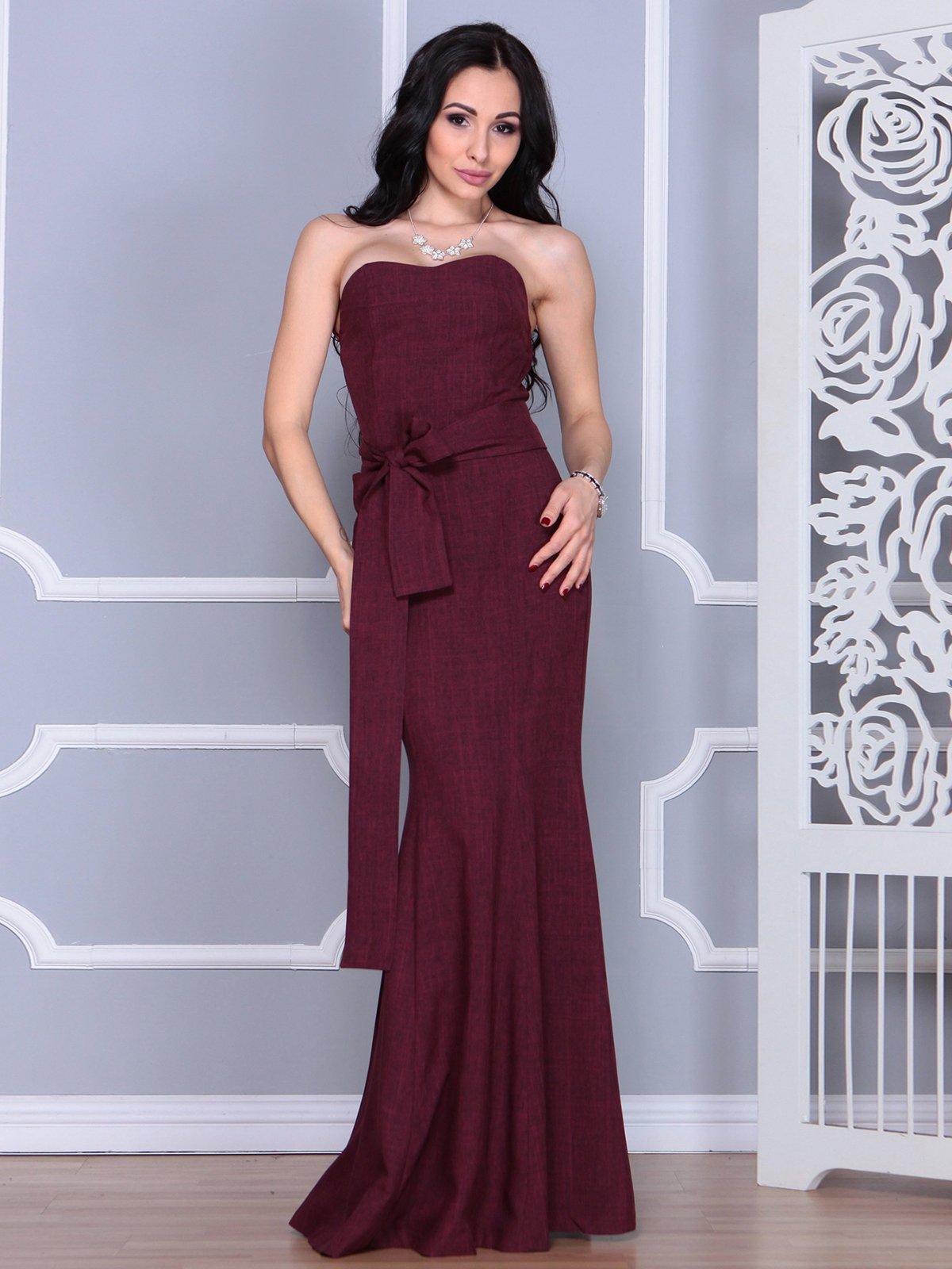 Платье сливовое | 4028112 | фото 5