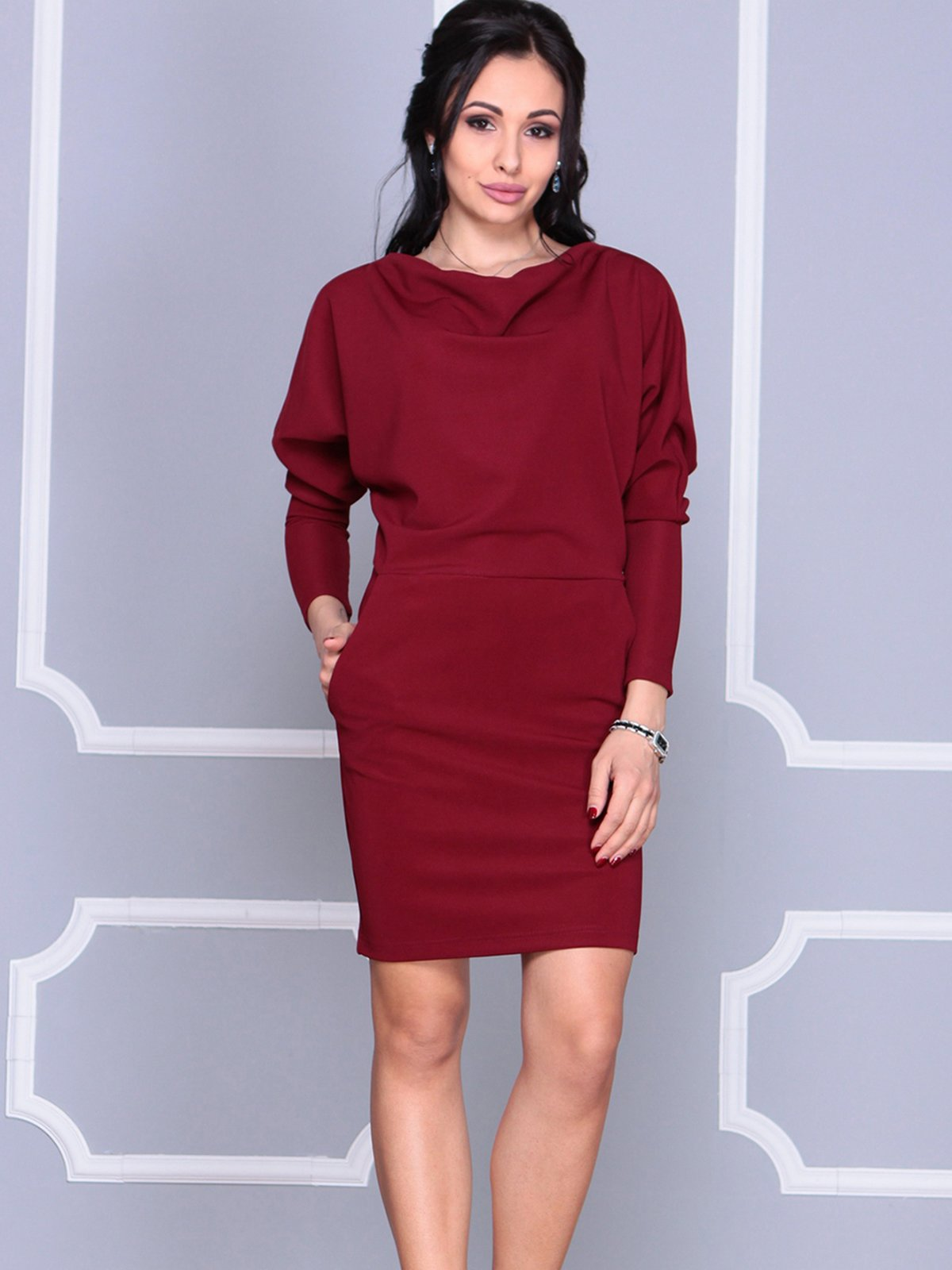 Платье сливового цвета   4042178