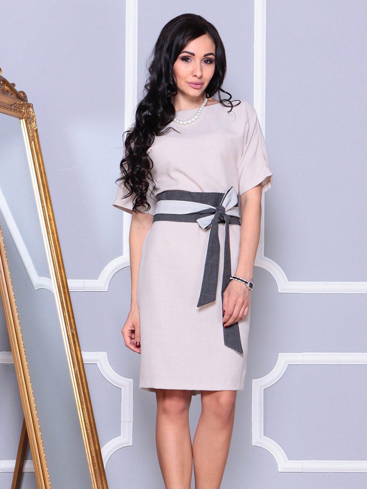 Платье бежевое | 4042186