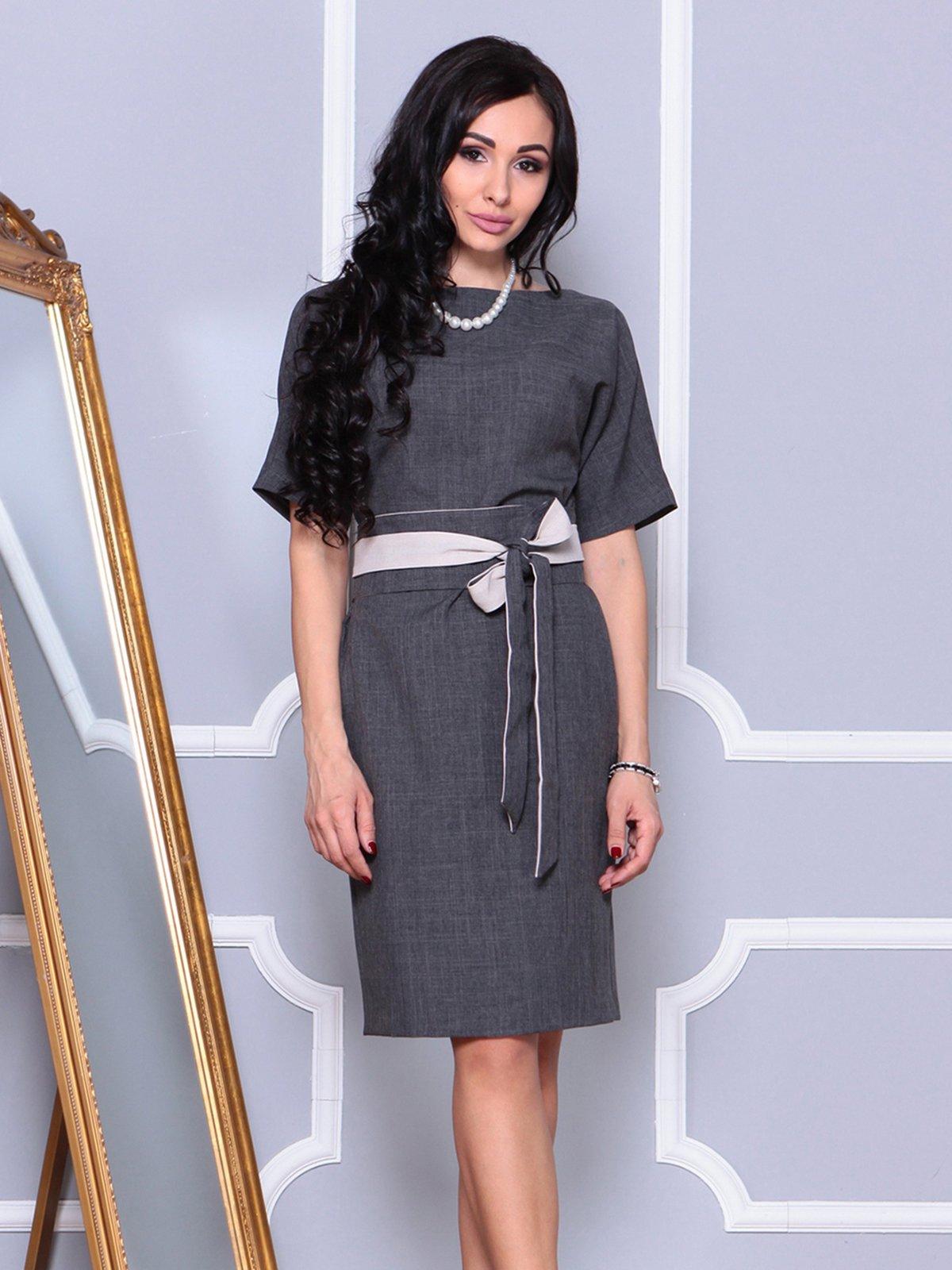 Платье графитовое | 4042187 | фото 3