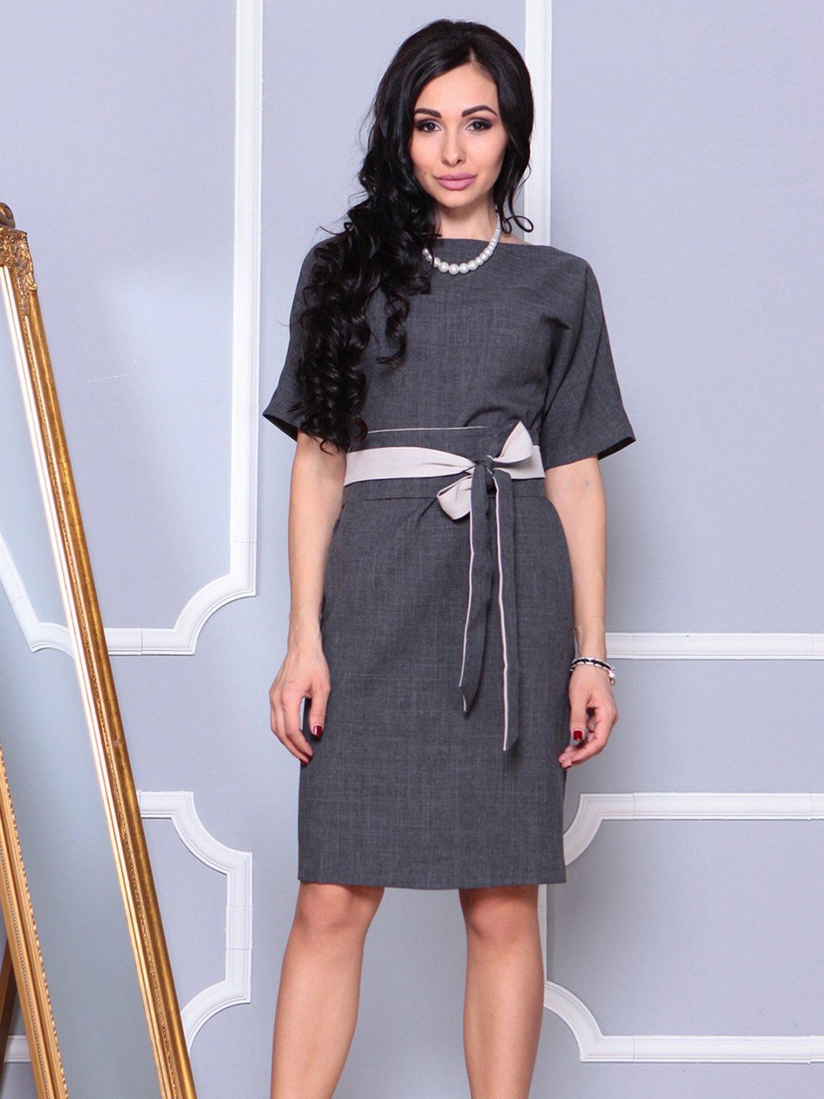 Платье графитовое | 4042187