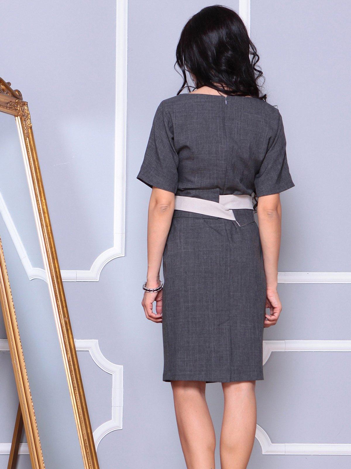 Платье графитовое | 4042187 | фото 2