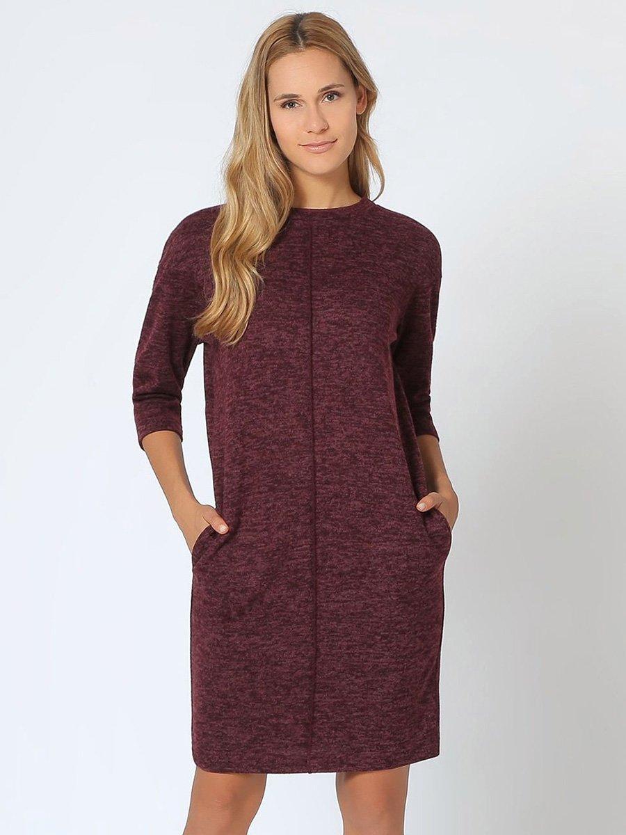 Платье бордовое | 4041945