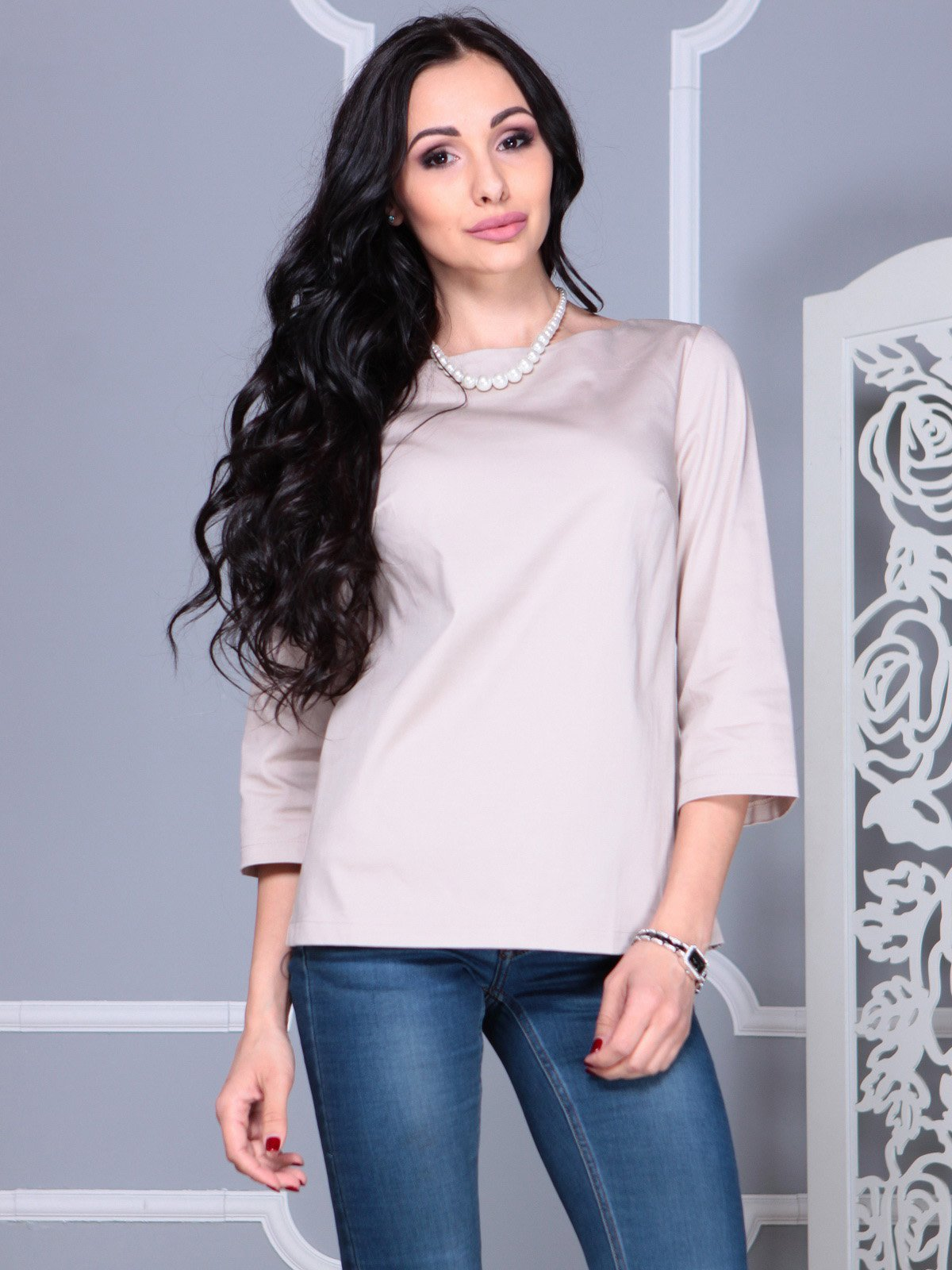 Блуза бежевая | 4021152