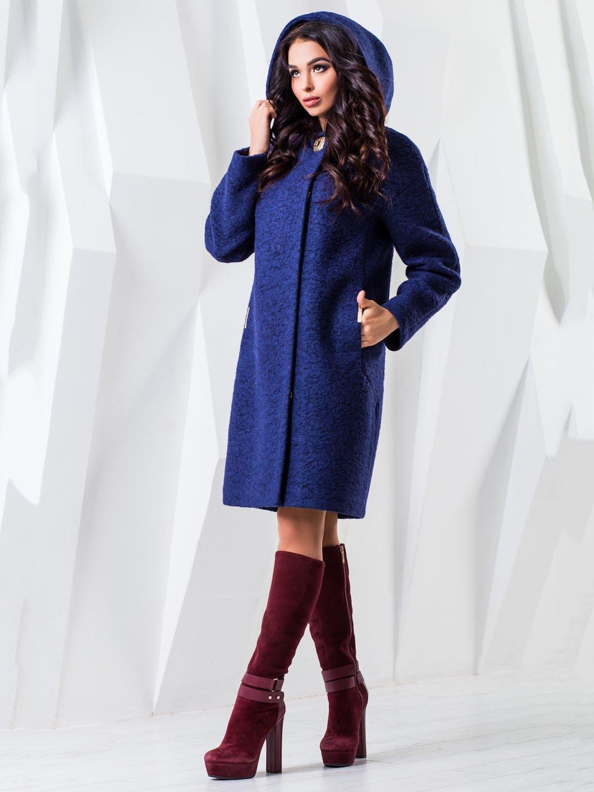 Пальто темно-синее   3893121   фото 2